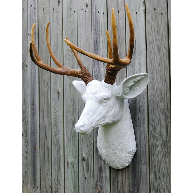 Near And Deer Deer Head Antlers Faux Taxidermy Wall D 233 Cor