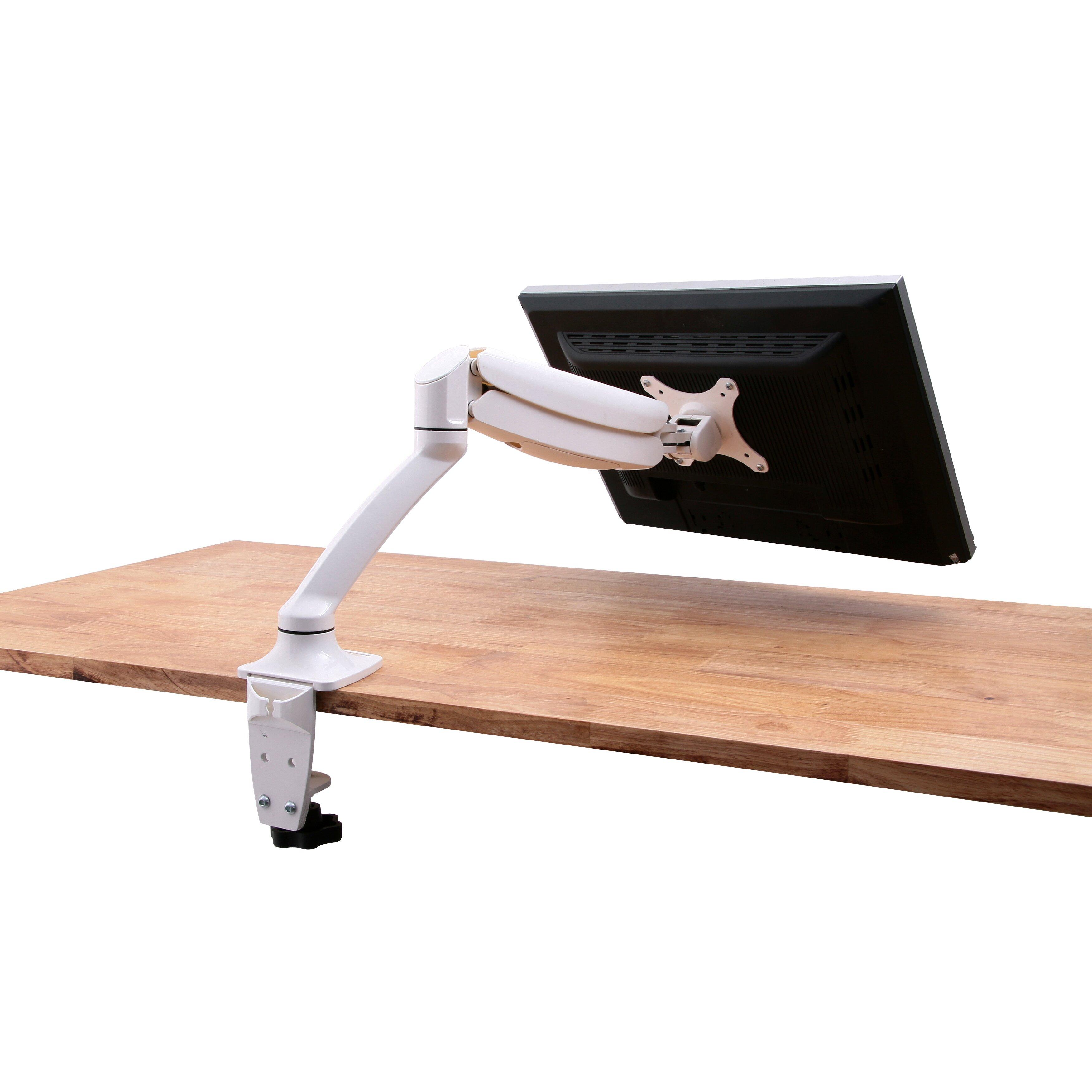 Vivo Single Lcd Monitor Height Adjustable Desk Mount Wayfair