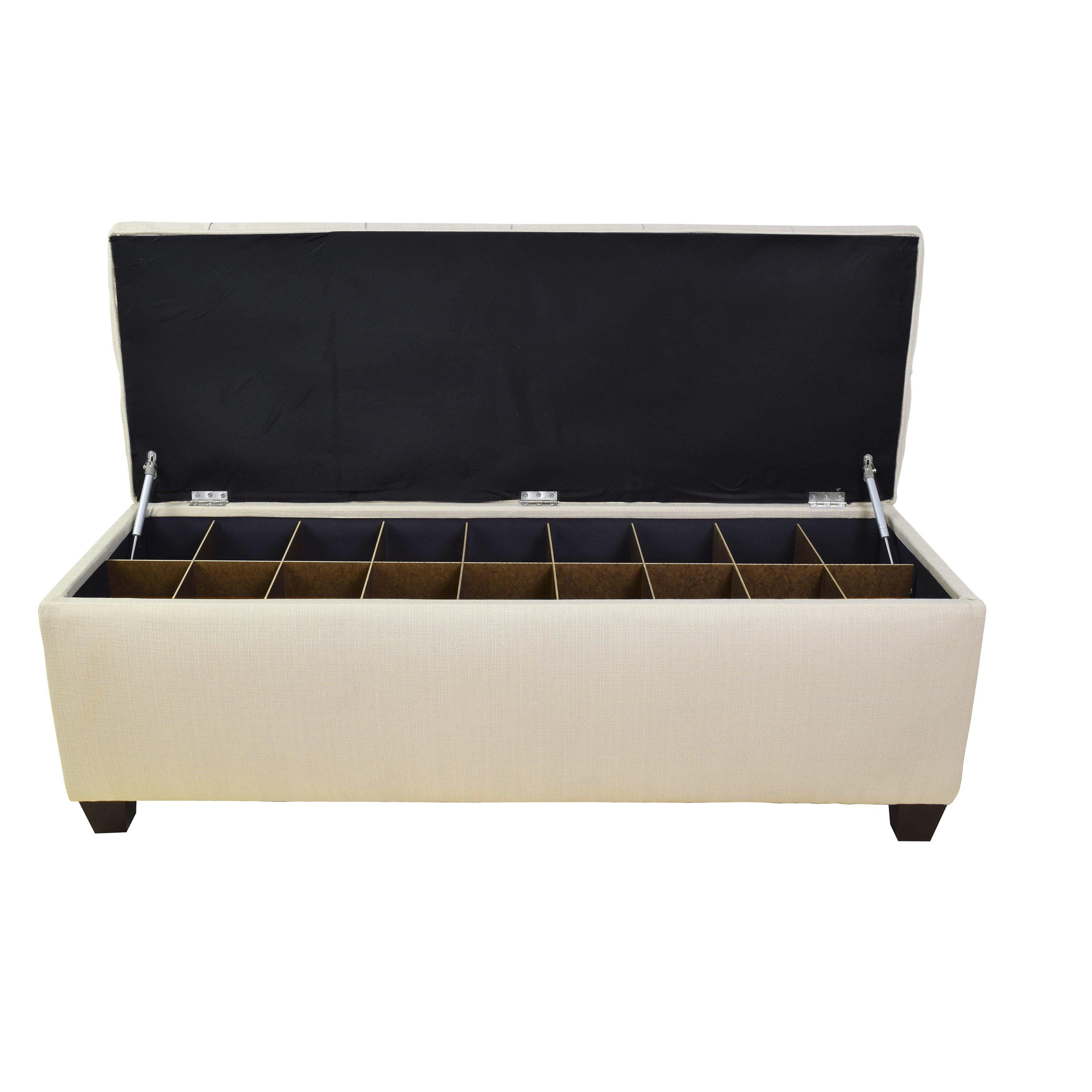 The Sole Secret Sole Secret Upholstered Storage Bench Reviews Wayfair