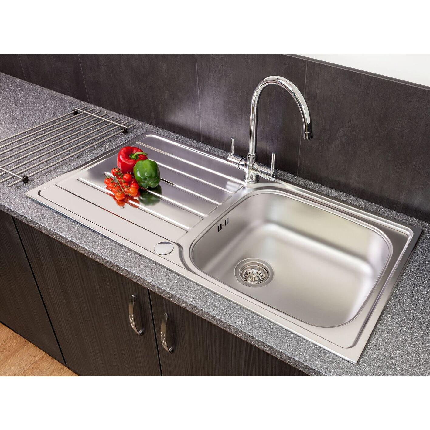 50cm single bowl inset kitchen sink with waste reviews wayfair uk