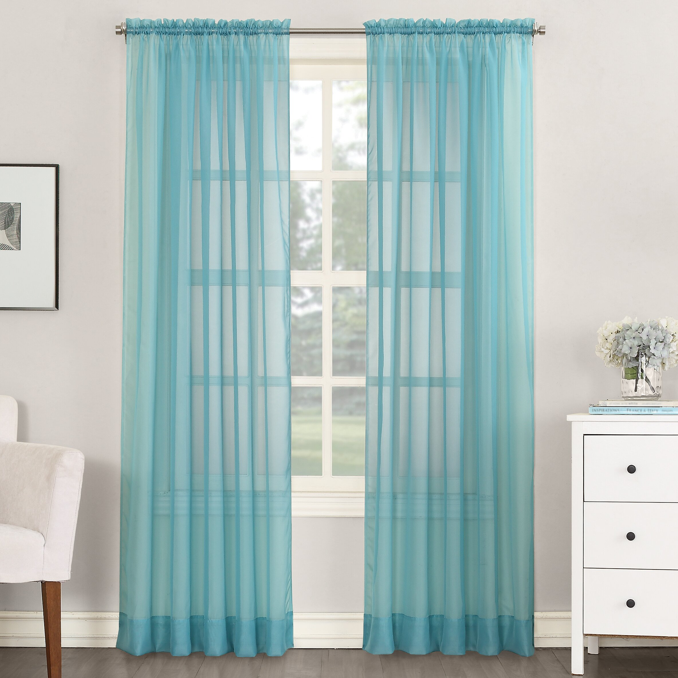 No 918 sheer voile single curtain panel reviews wayfair for Where to buy drapes