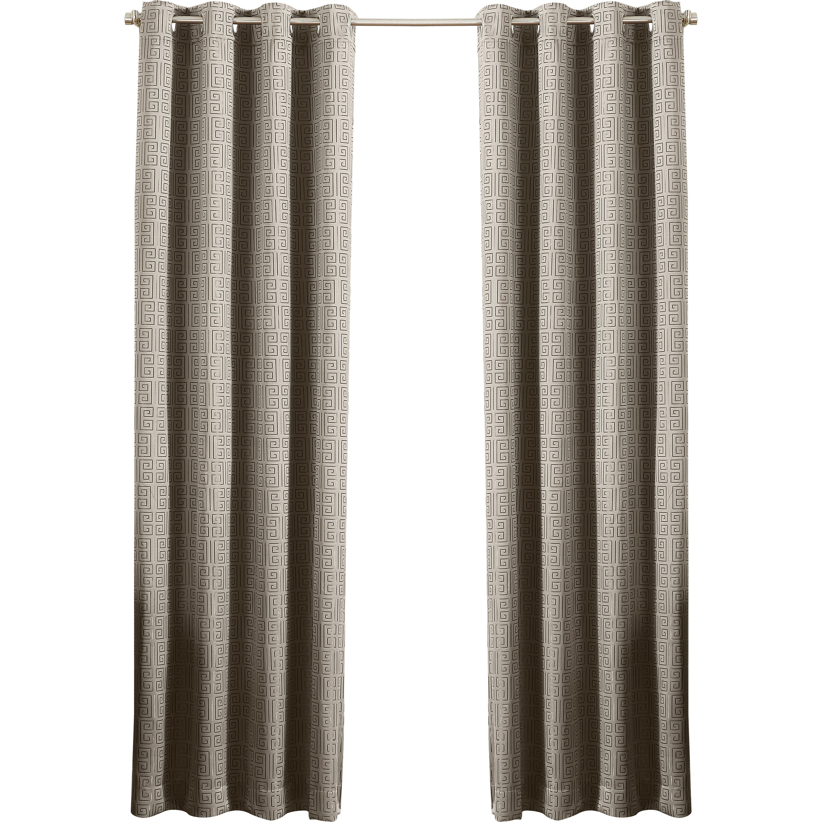 Sun Zero Tammie Greek Key Blackout Lined Grommet Single Curtain Panel Reviews Wayfair
