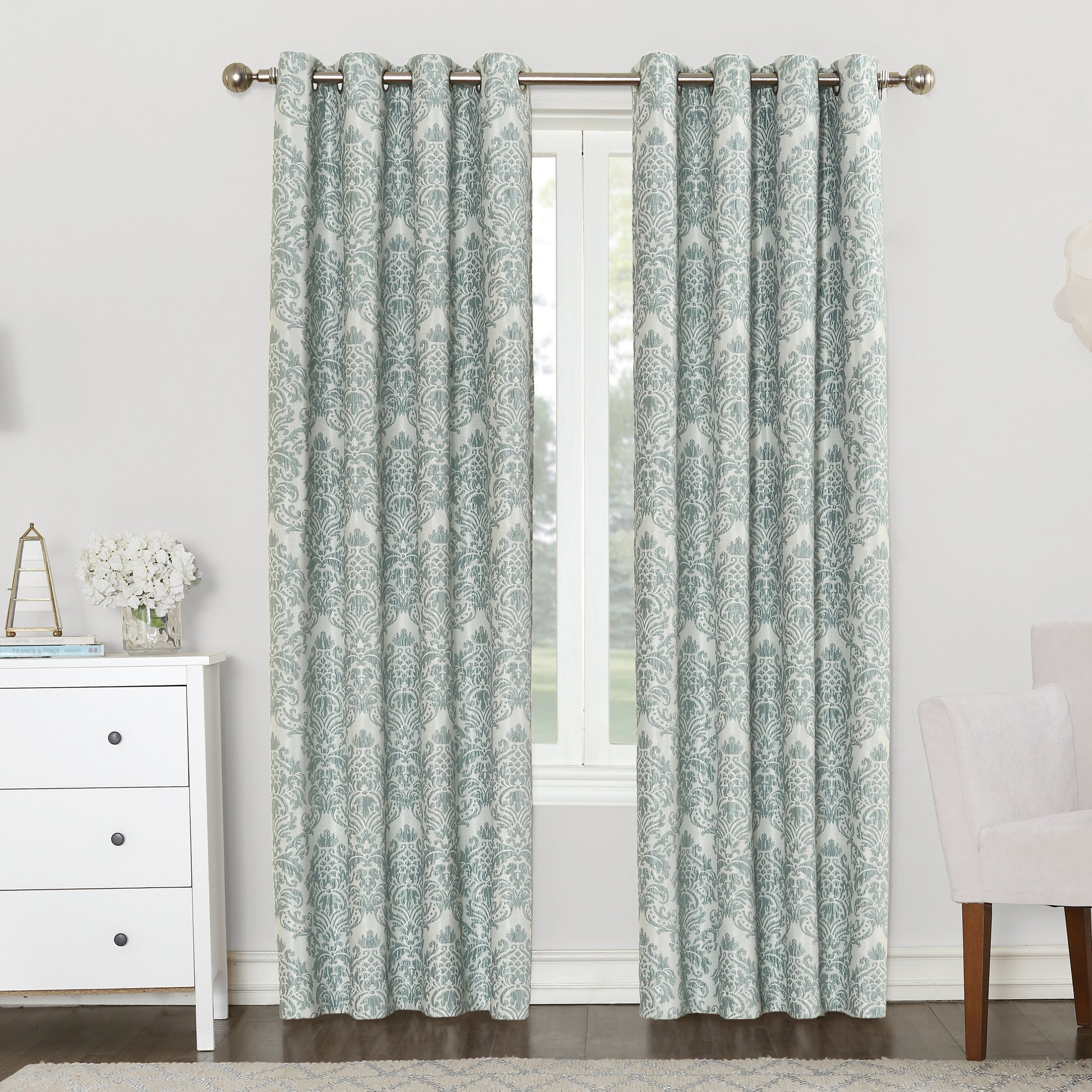 Sun Zero Christine Blackout Single Curtain Panel & Reviews