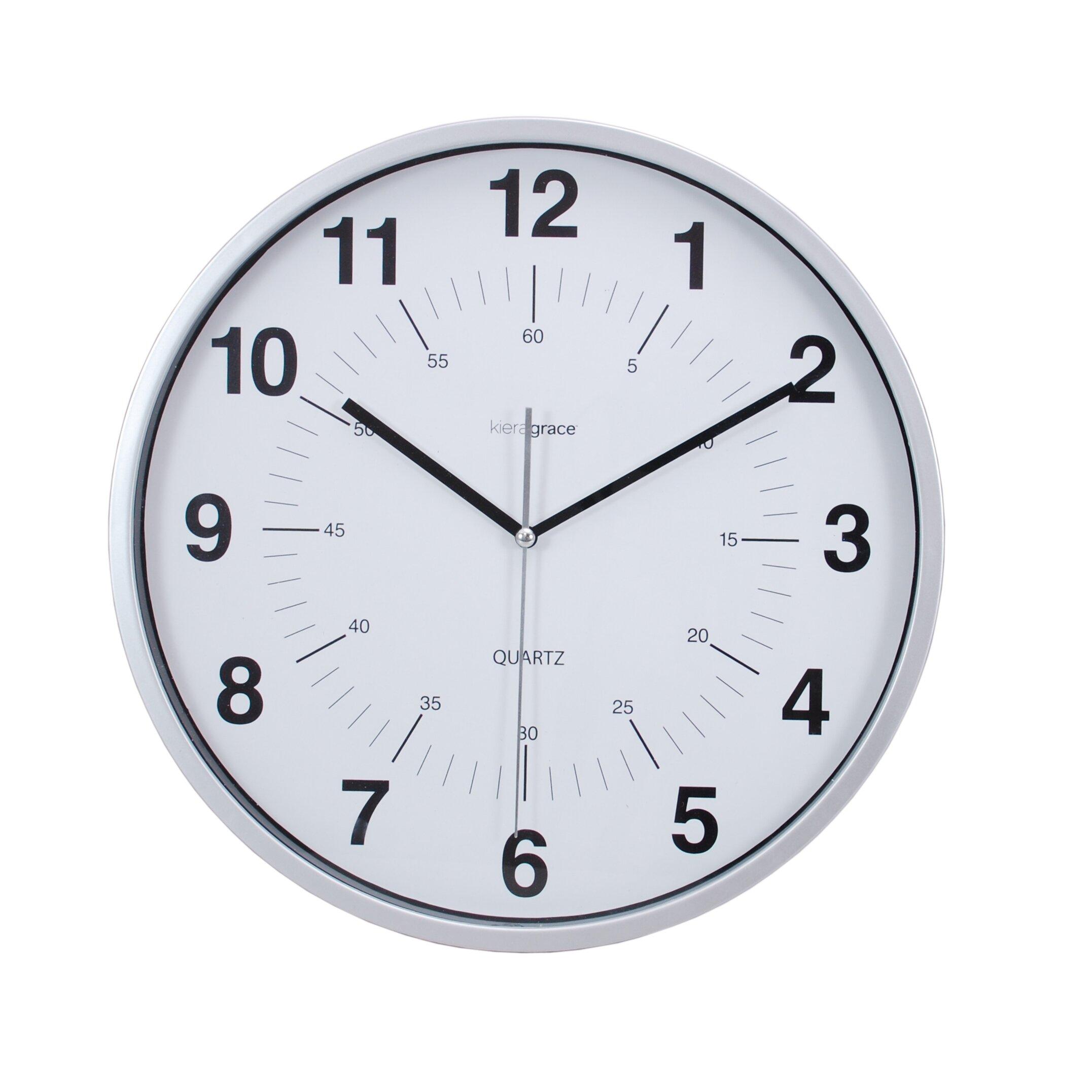hito Modern Silent Wall Clock Non ticking 10 inch ... |Silent Wall Clock