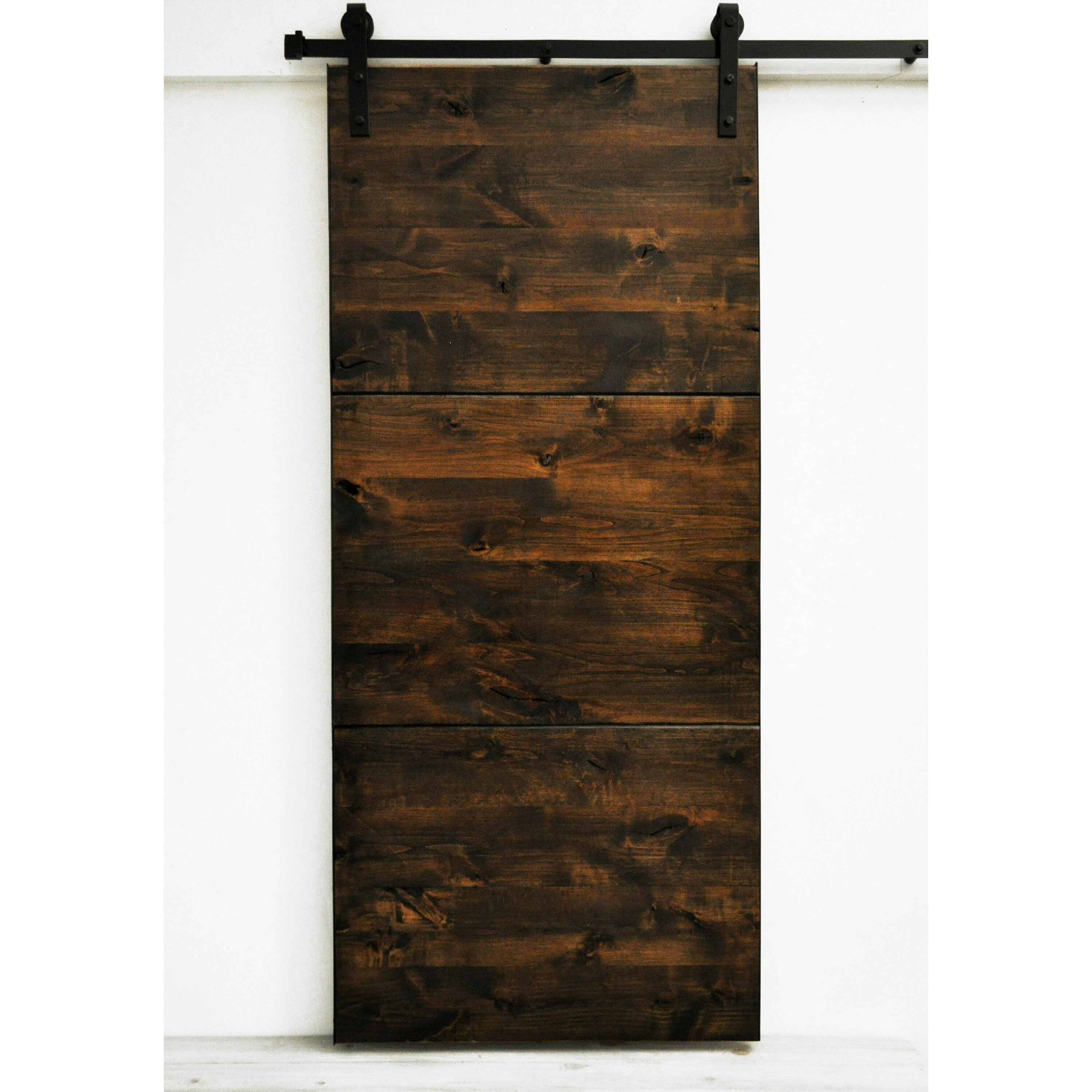 Dogberry collections modern slab wood 1 panel stained - Modern interior barn doors ...