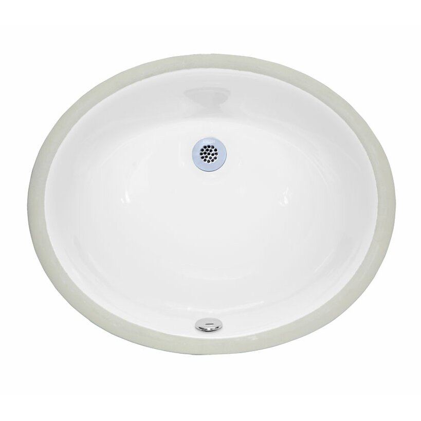 Ryvyr Undermount Oval Vitreous China Bathroom Sink