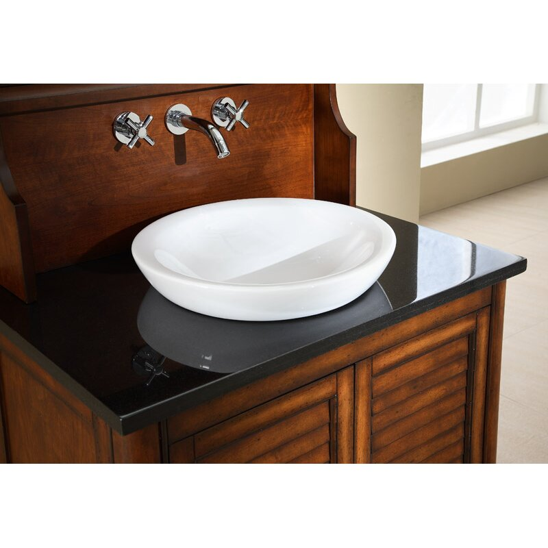 Ryvyr Semi Recessed Round Vitreous China Vessel Bathroom  : Ryvyr Semi Recessed Round Vitreous China Vessel Bathroom Sink CSR169RD from www.wayfair.com size 800 x 800 jpeg 66kB