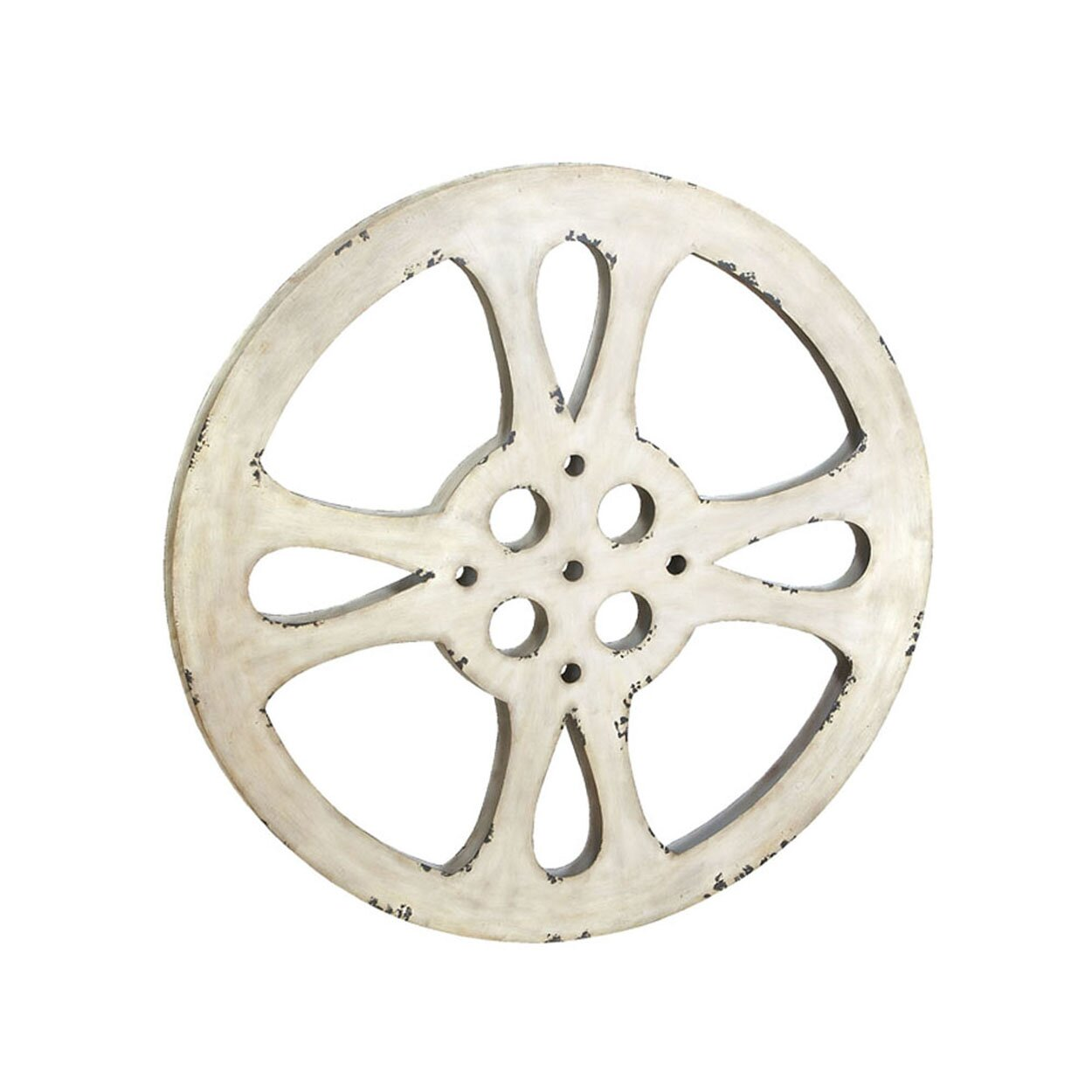 Ec world imports hollywood vintage 42quot metal film reel for Kitchen colors with white cabinets with film reel wall art
