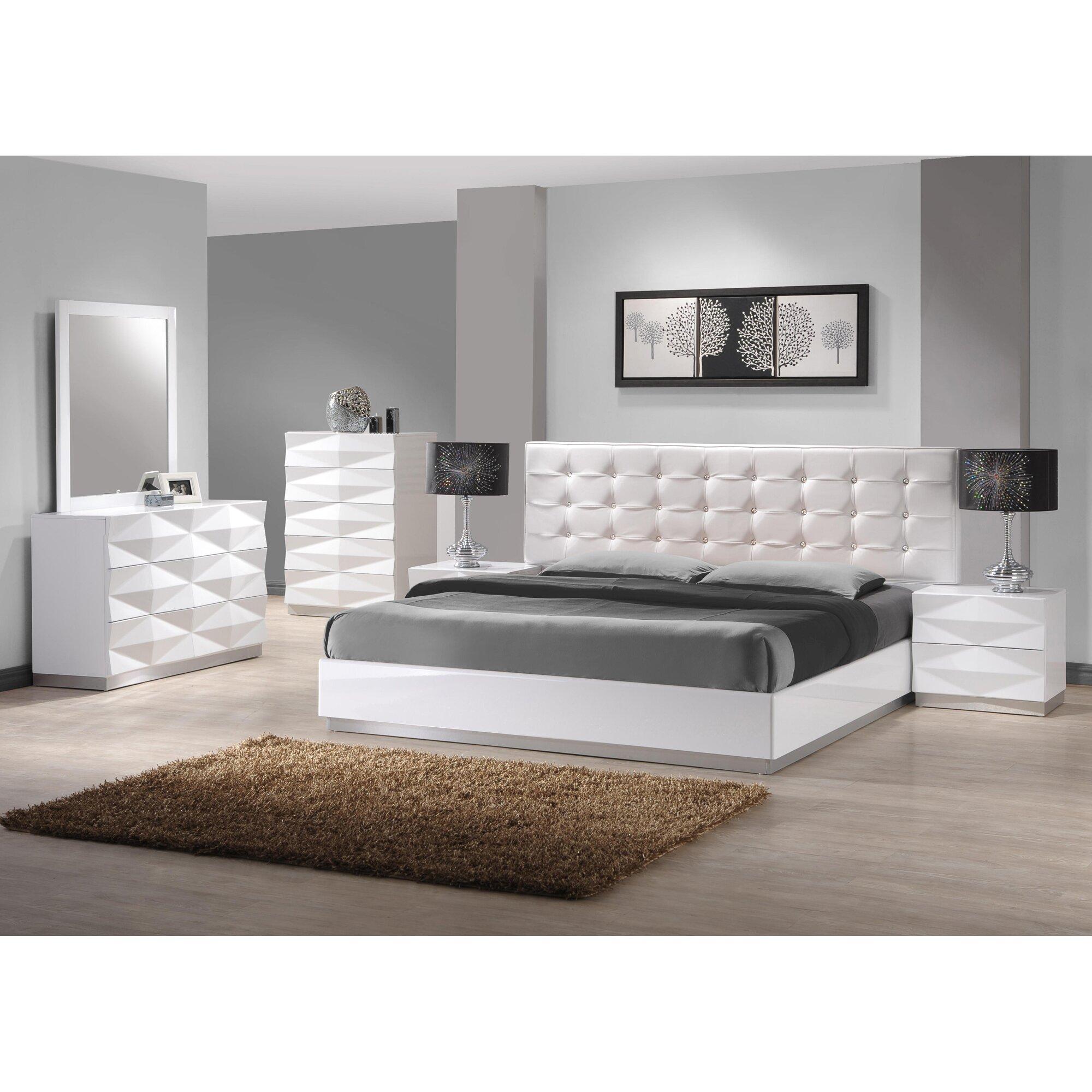 J M Furniture Verona Platform 3 Piece Bedroom Set Reviews Wayfair