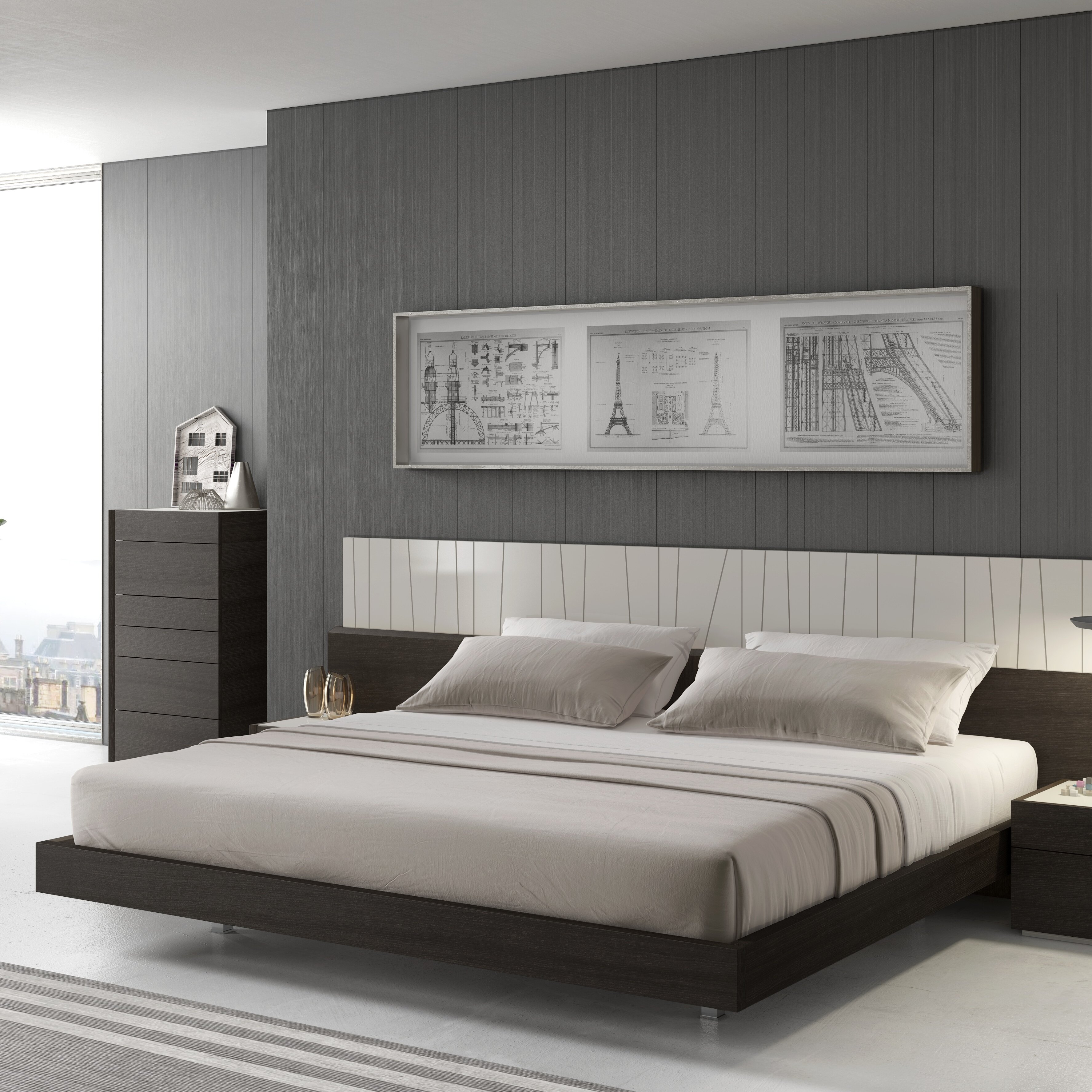 J M Furniture Porto Platform Bed Reviews Wayfair
