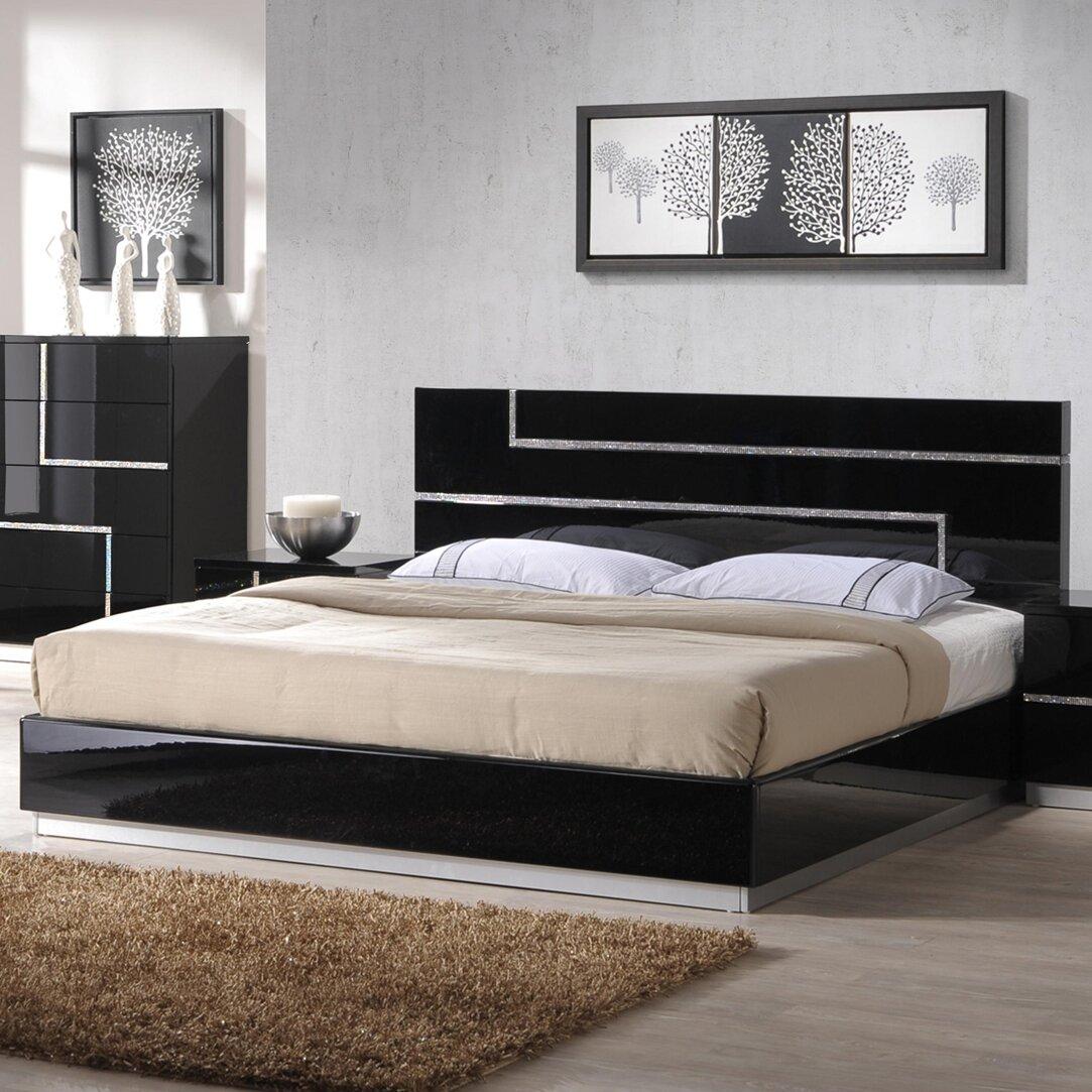 J M Furniture Lucca Platform Bed Reviews Wayfair