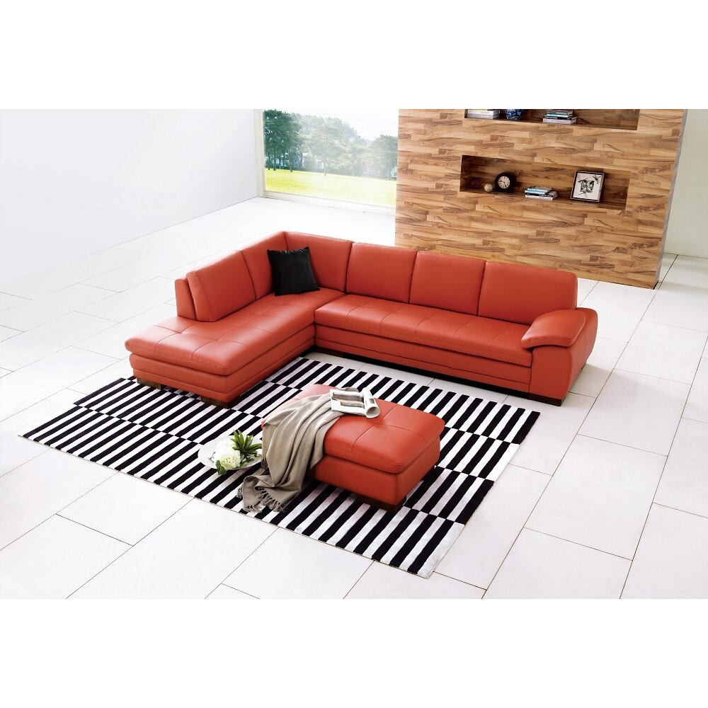 JandM Furniture Miami Leather Sectional JMFU