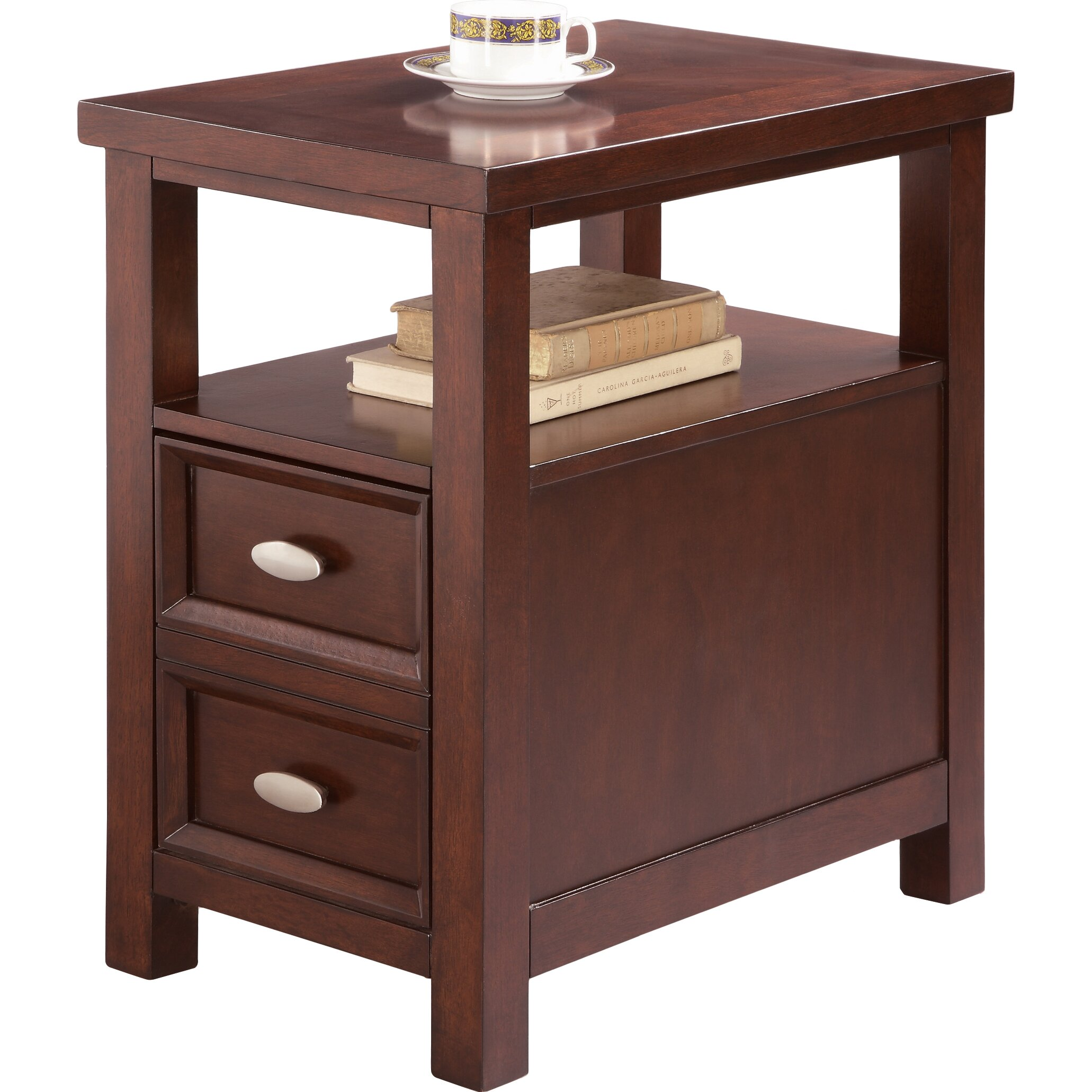 Crown Mark Dempsey Chairside Table & Reviews