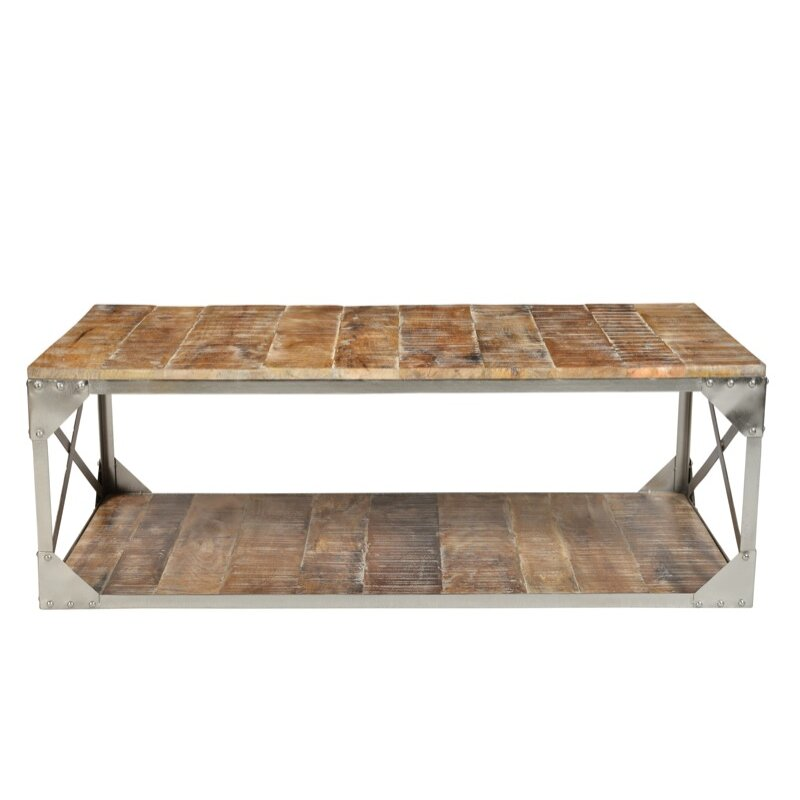 Cdi international industrial coffee table wayfairca for Wayfair industrial coffee table