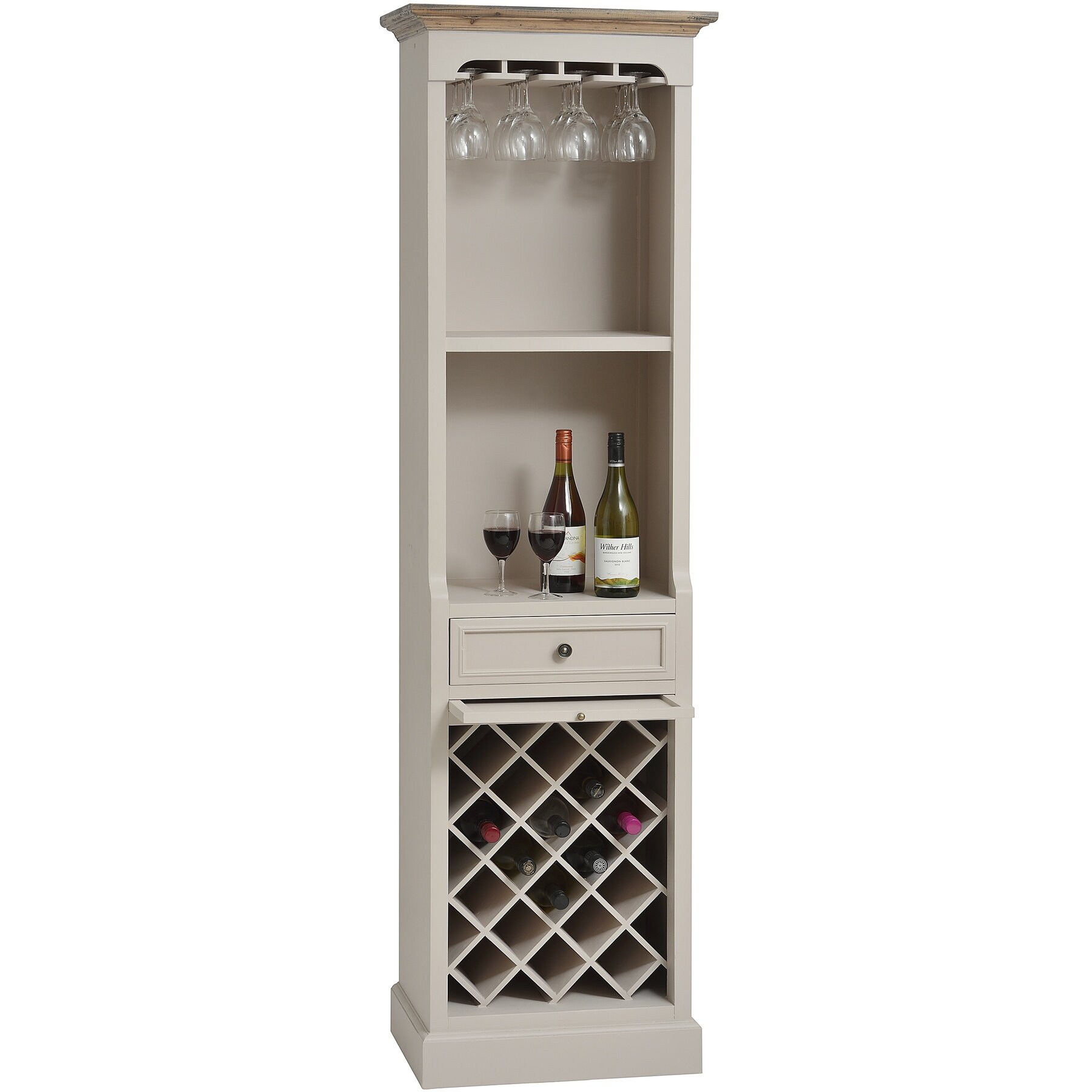 Hill interiors studley 12 bottle floor wine rack wayfair uk for Floor wine rack