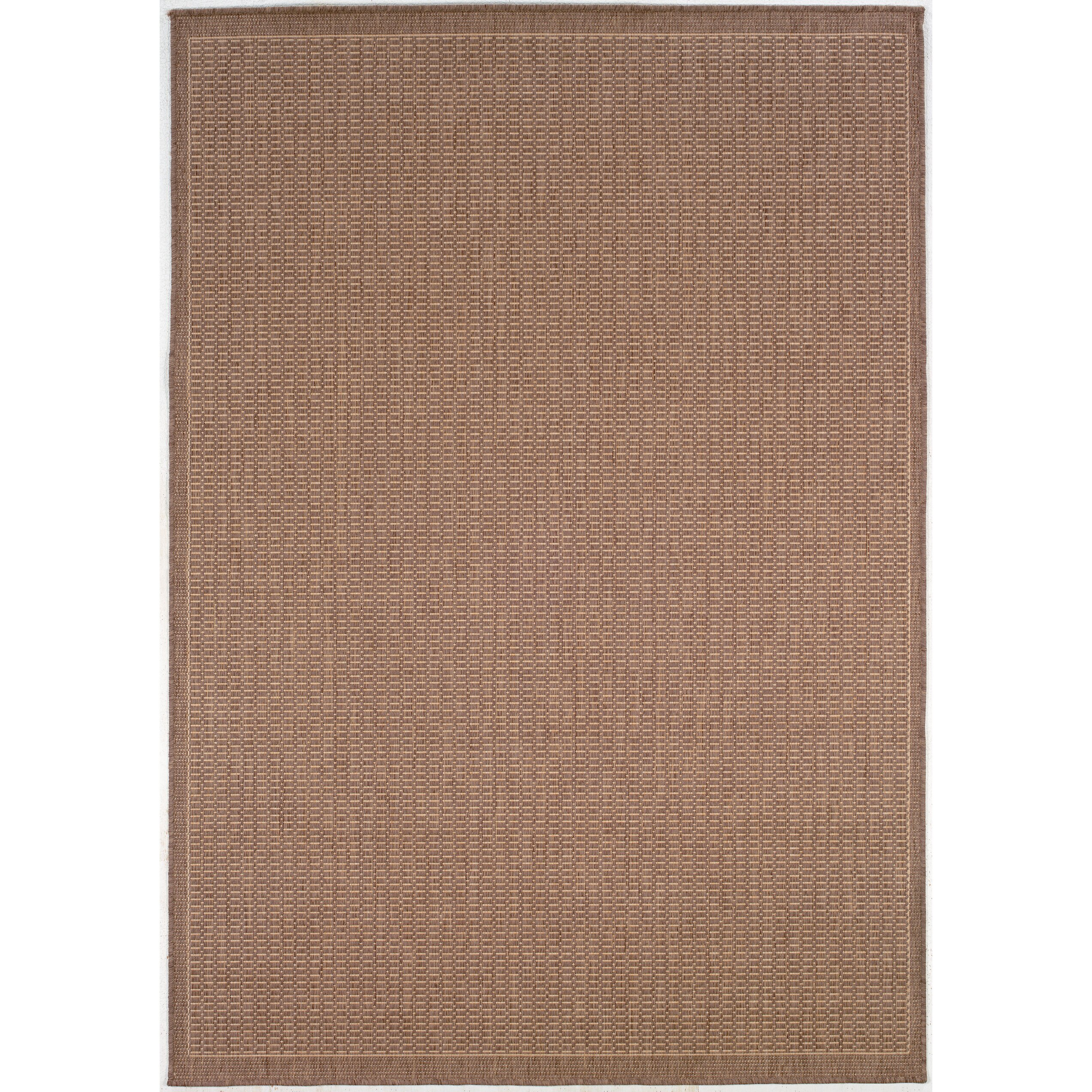 Couristan recife saddle stitch cocoa indoor outdoor area for Indoor out door rugs
