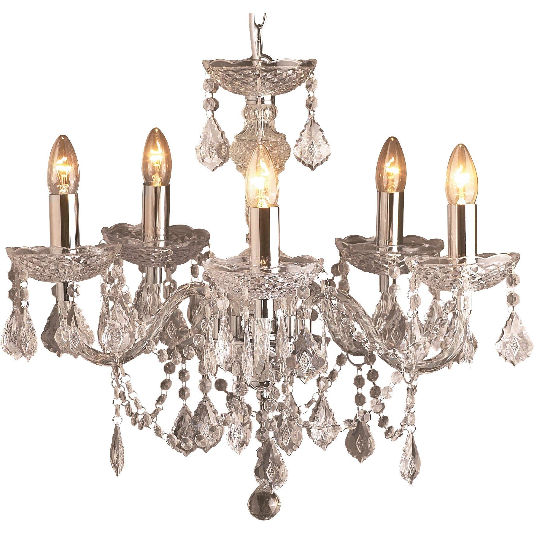 loxton lighting strauss 5 light candle style chandelier reviews wayfair uk