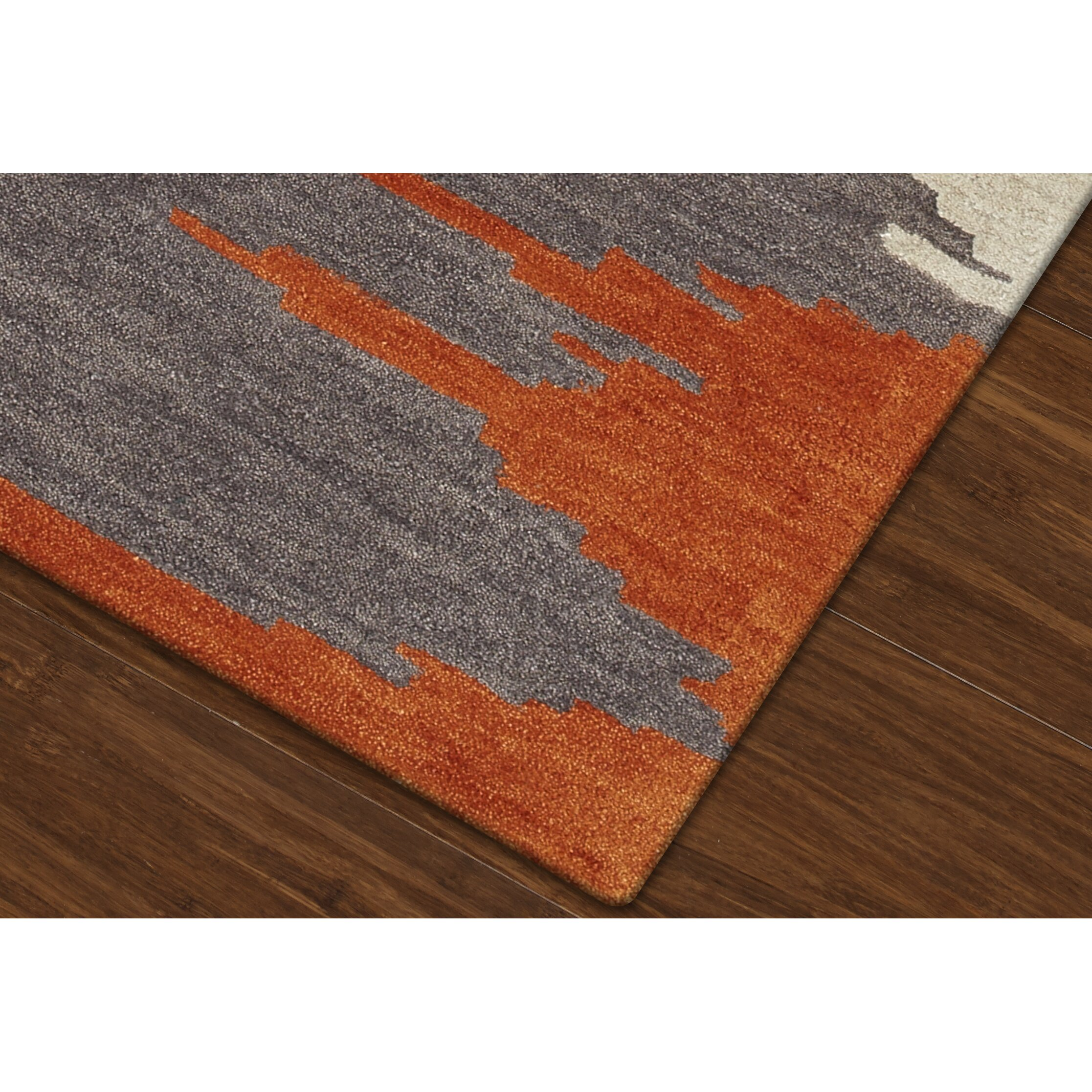 Dalyn Rug Co Impulse Orange Gray Area Rug Amp Reviews Wayfair