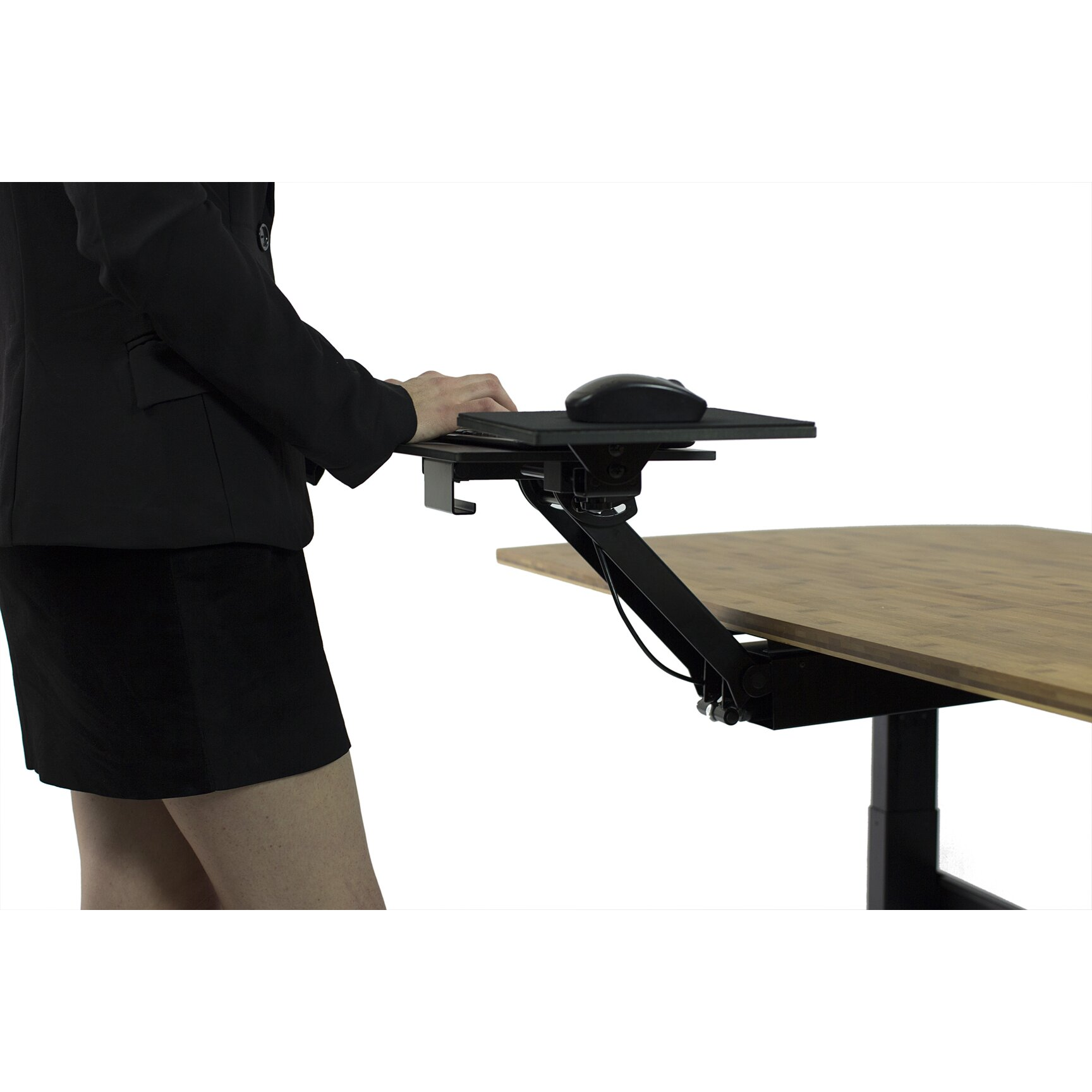 Writing Desk With Keyboard Tray That Swivels