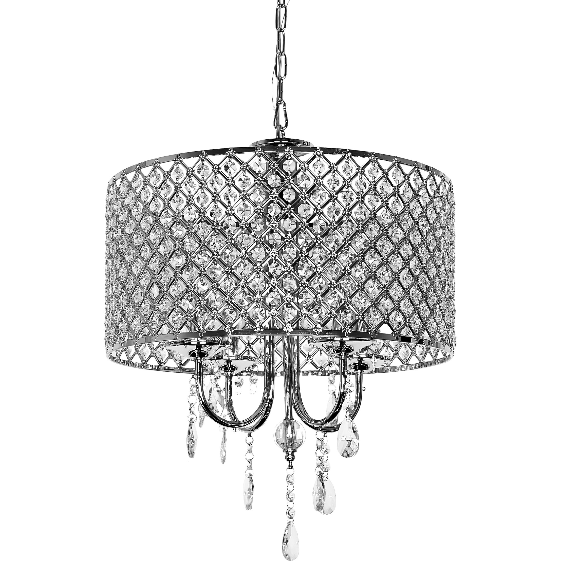 wellyer inc diana 4 light drum chandelier chandeliers pendants wayfair drum lighting