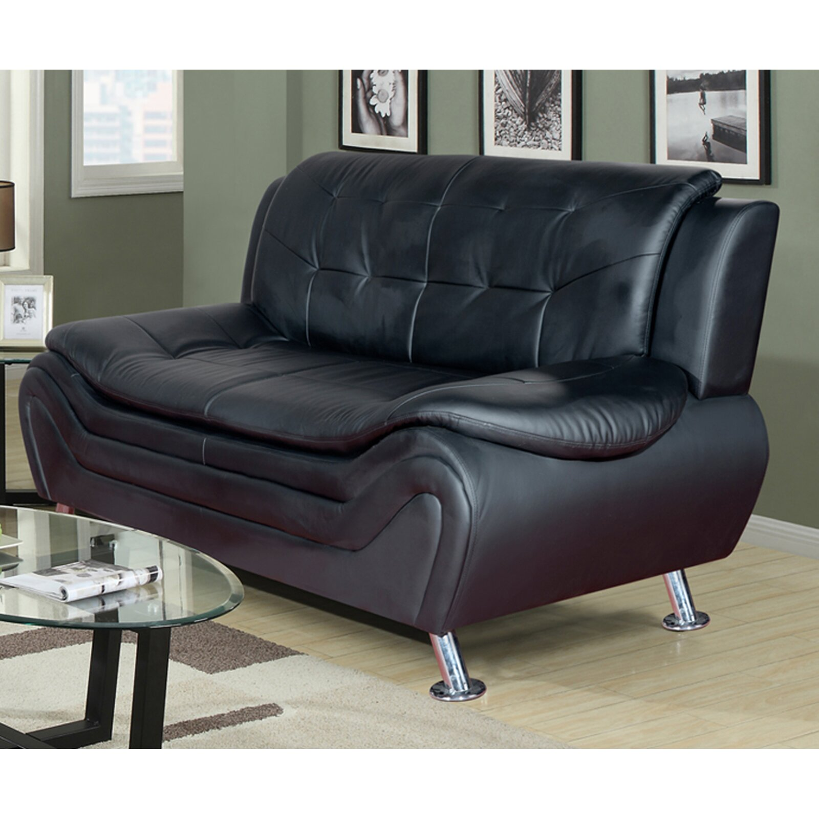Beverly Fine Furniture Linda Leather Sofa Reviews Wayfair