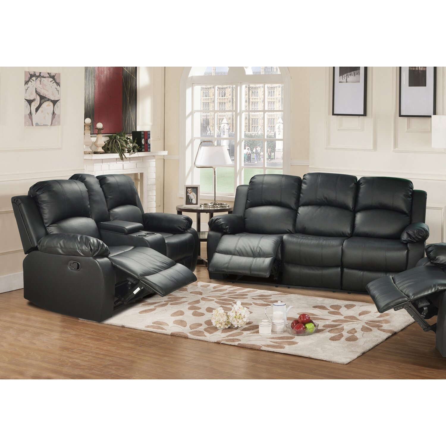Beverly Fine Furniture Amado 2 Piece Leather Reclining Living Room Set Reviews Wayfair