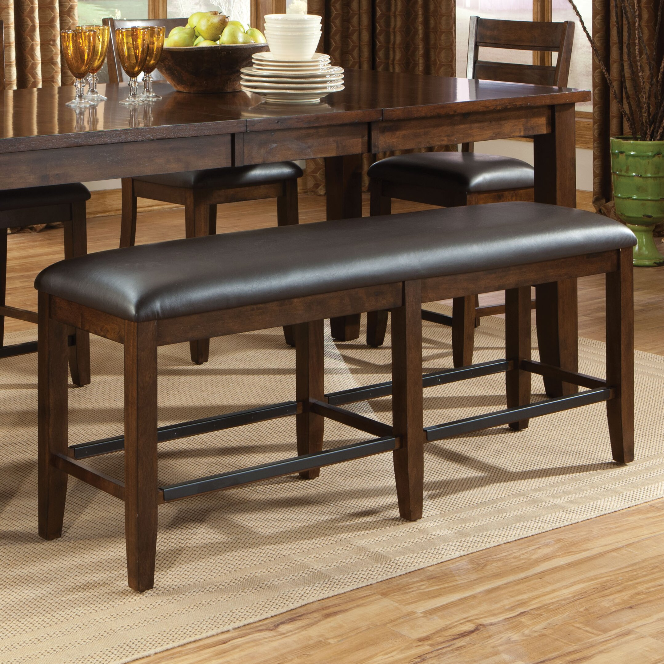 Kitchen Tables With A Bench: Standard Furniture Abaco Upholstered Kitchen Bench