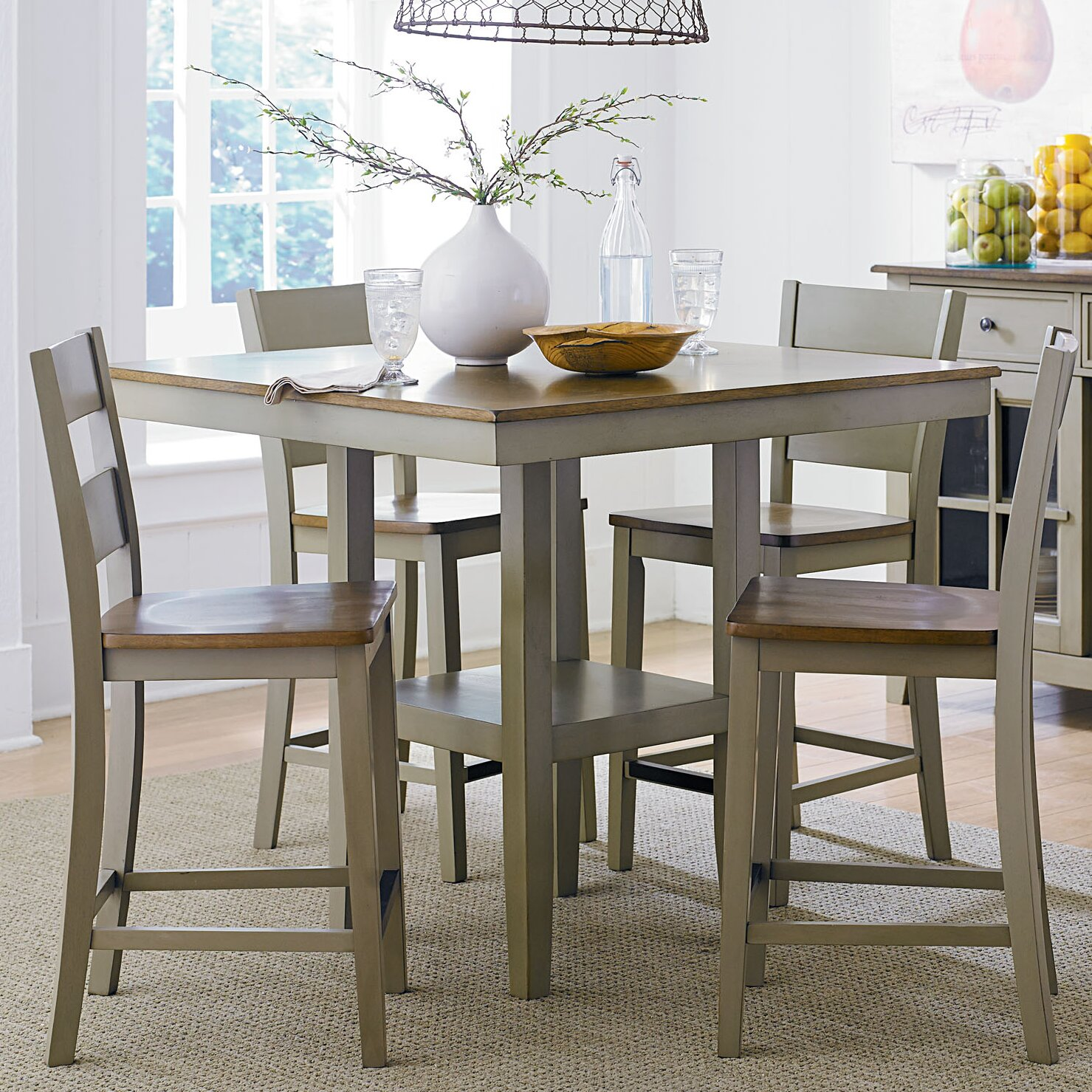 Counter Height Dining Tables: Standard Furniture 5 Pieces Counter Height Dining Set