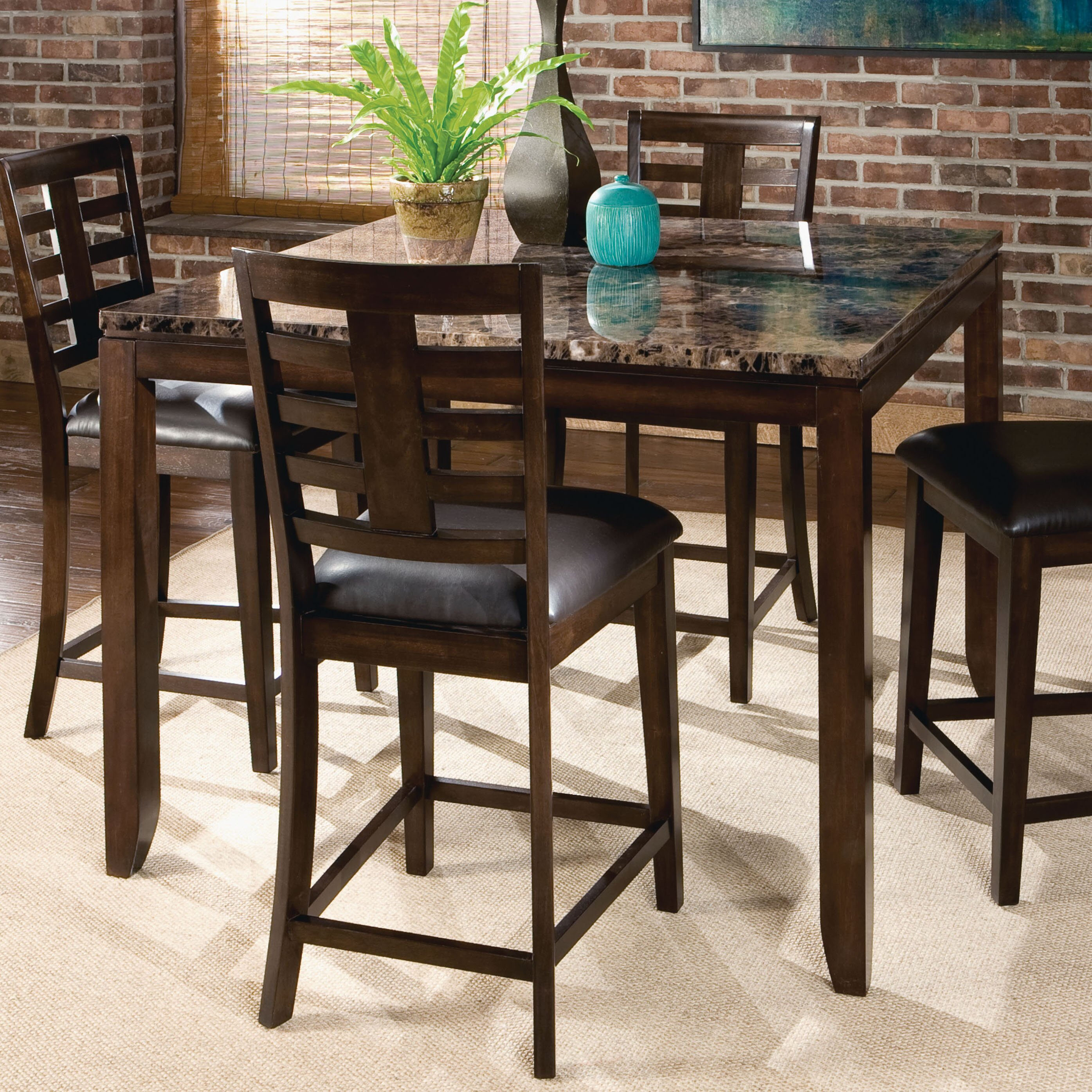 Countertop Height Round Table : ... Furniture Bella Counter Height Dining Table & Reviews Wayfair