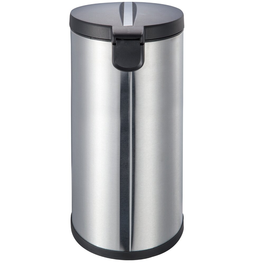 joyware round stainless steel trash can reviews wayfair. Black Bedroom Furniture Sets. Home Design Ideas