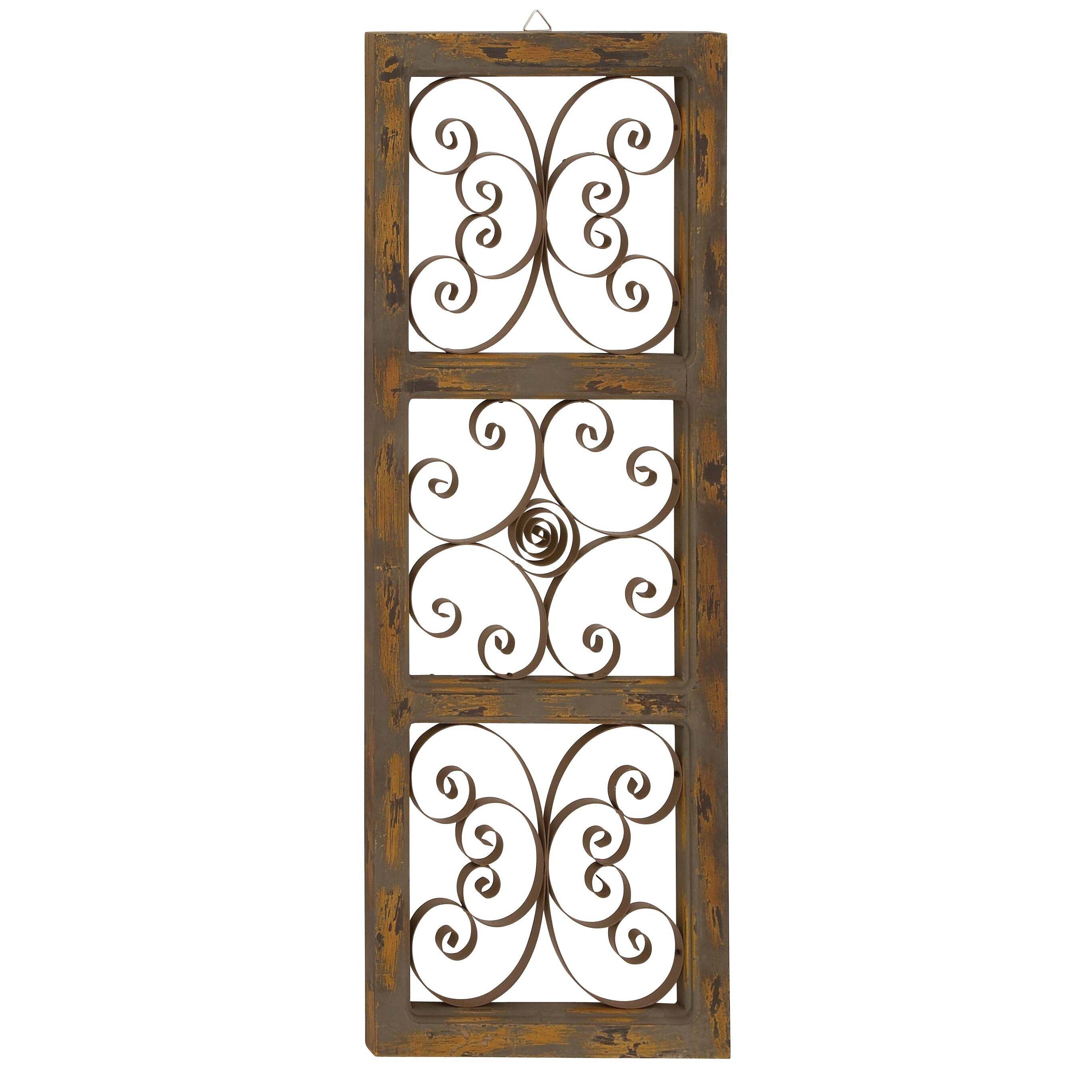 Wall Decor Wood Metal : Cole grey metal and wood wall decor reviews wayfair