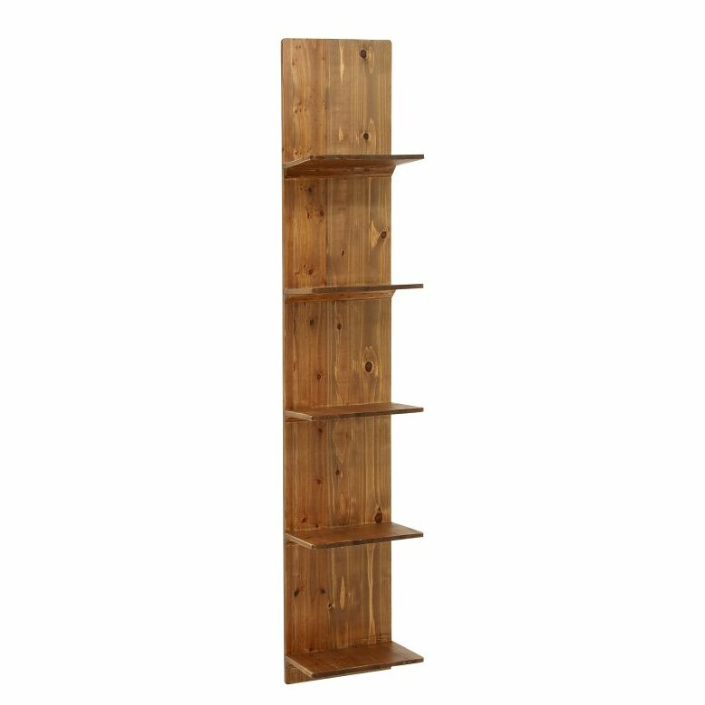 Grey Wood Accent Wall: Cole & Grey Wood Wall Accent Shelf