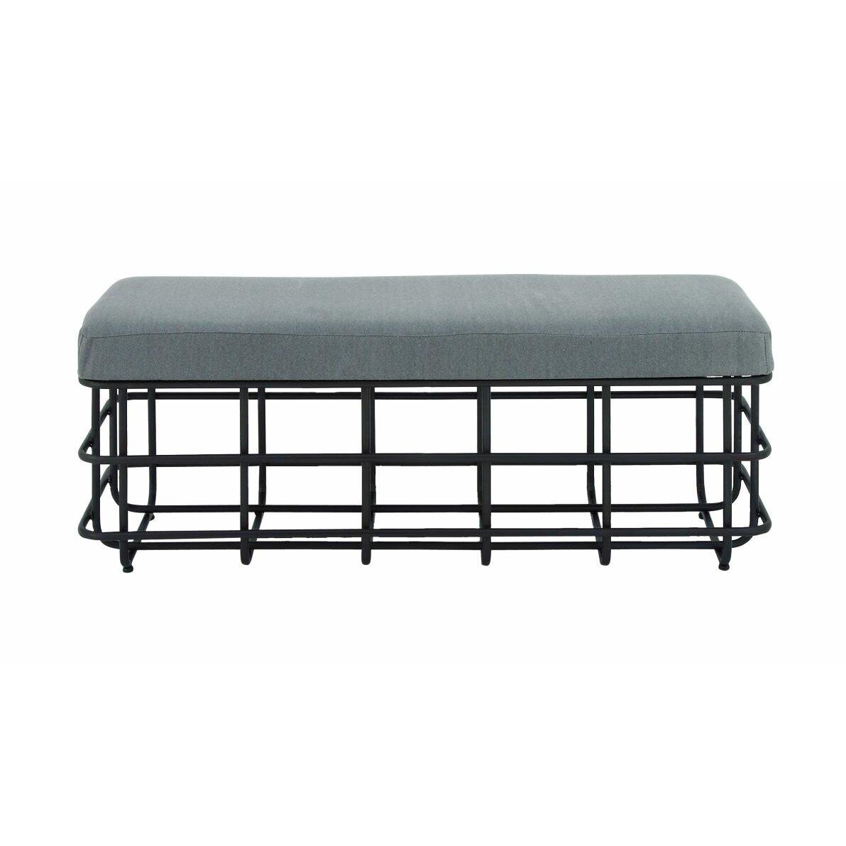 Gray Foyer Bench : Cole grey metal entryway bench wayfair