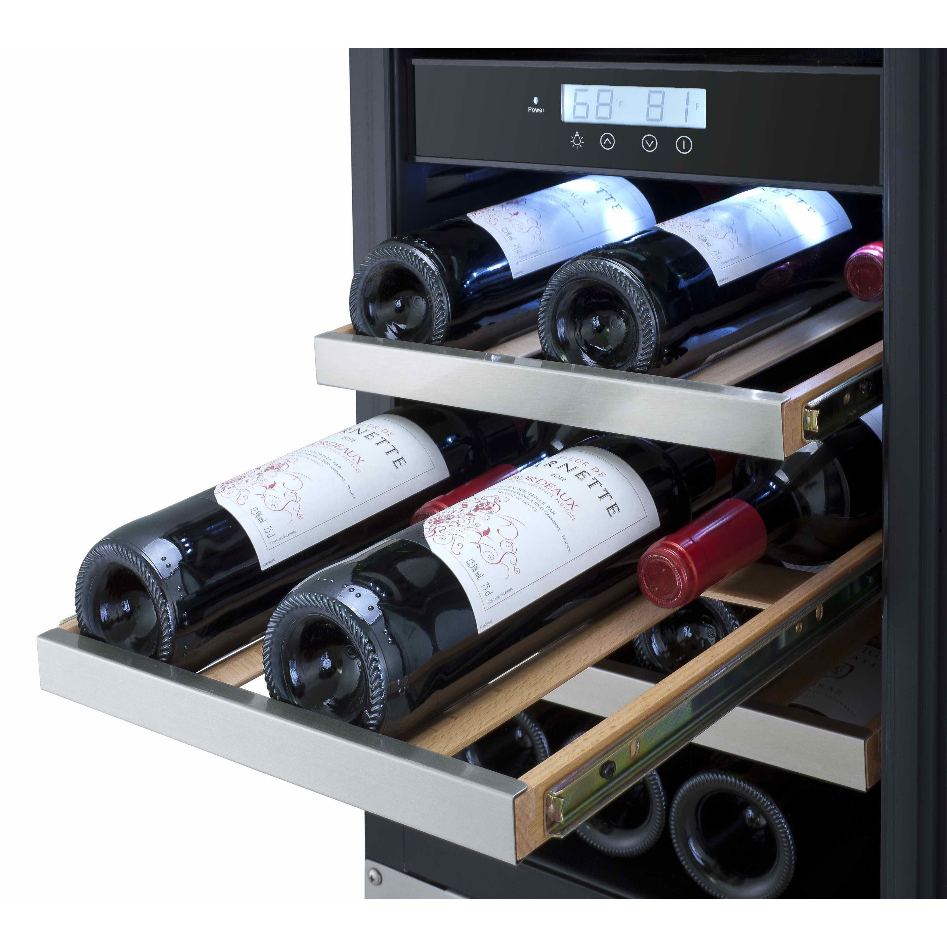 titan products llc 23 bottle dual zone built in wine
