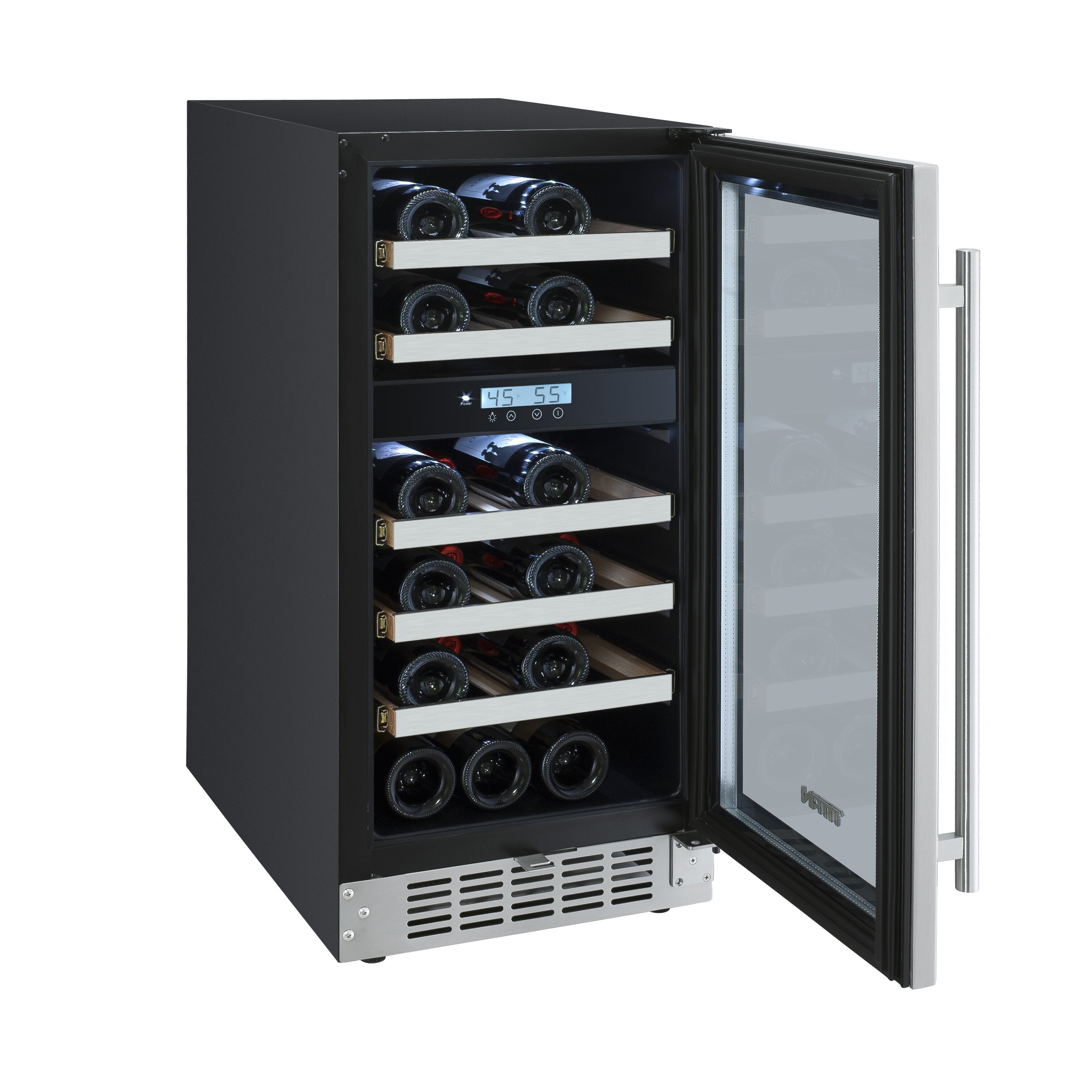 titan products llc 23 bottle dual zone built in wine