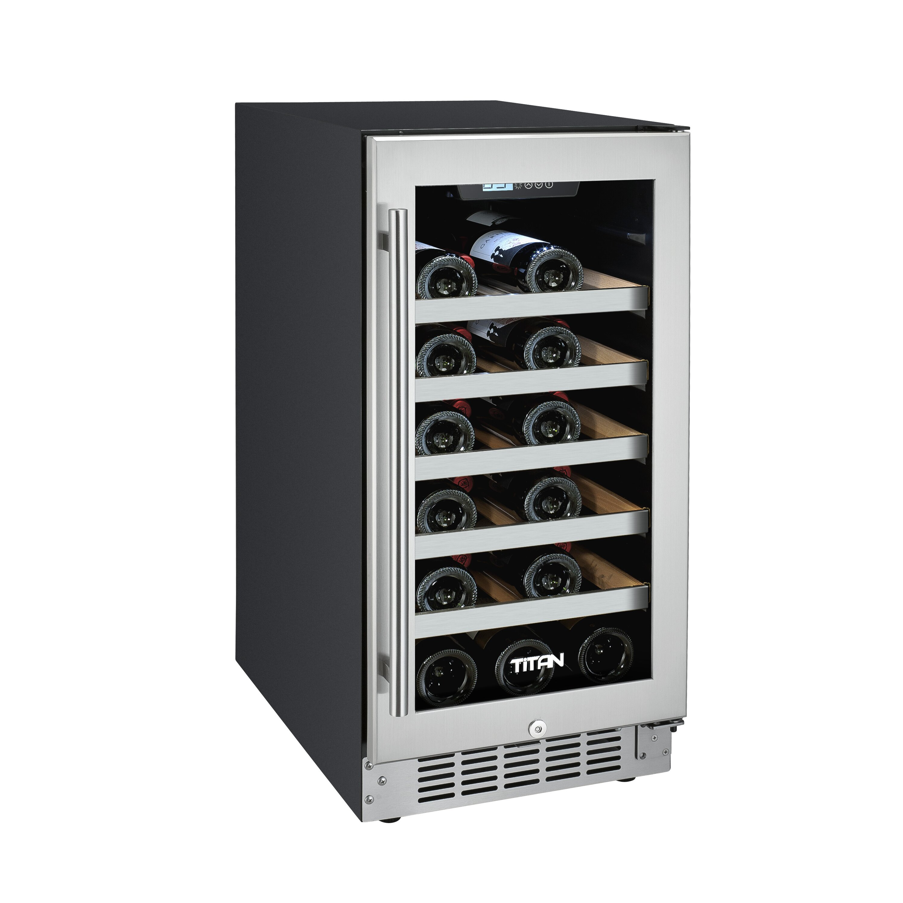 titan products llc 25 bottle single zone built in wine