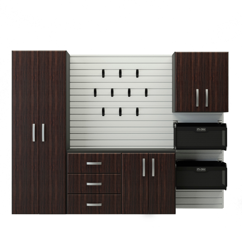 Starter Kitchen Cabinets: Flow Wall 6' H X 8' W X 1.5' D 5 Piece Cabinet Starter Set
