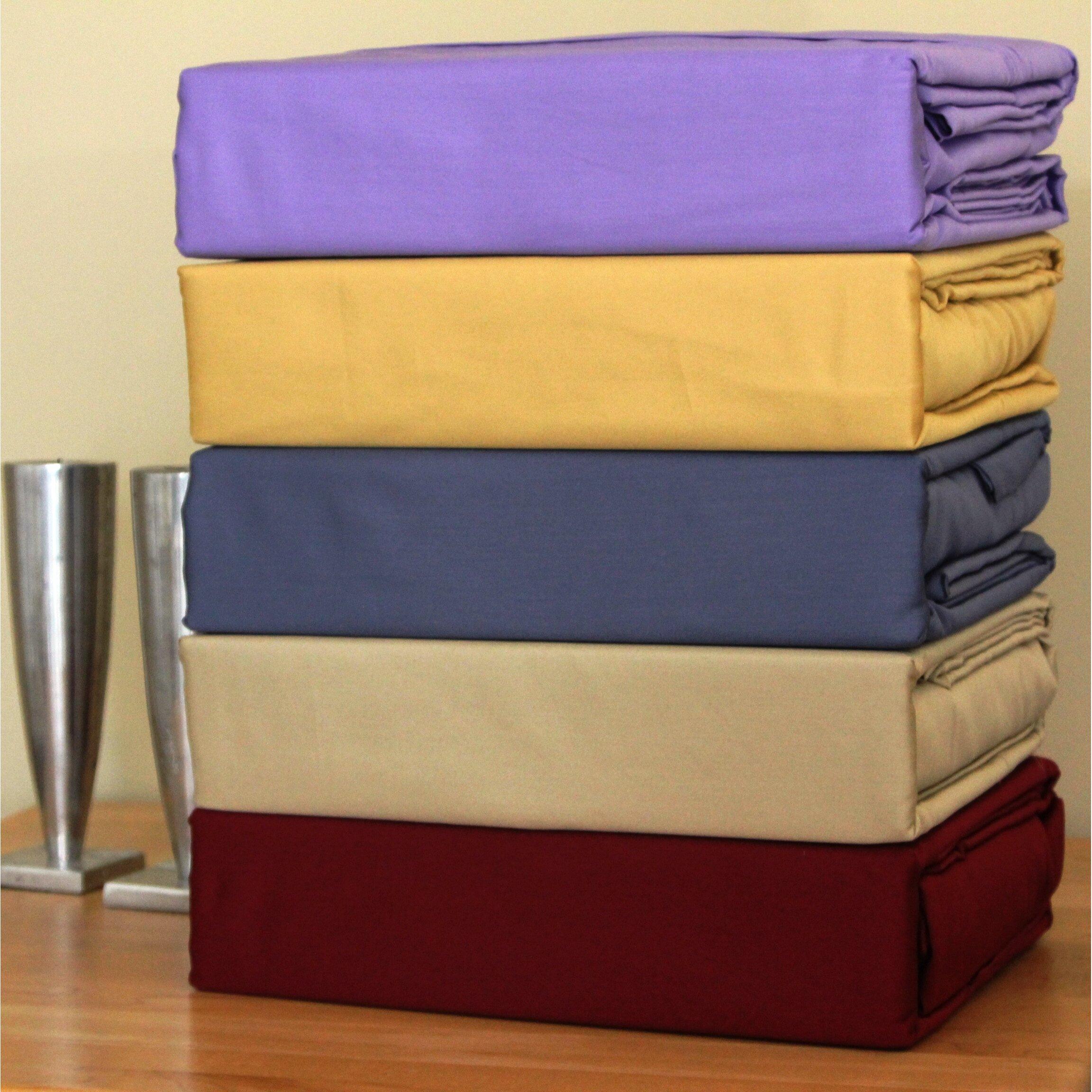 bed tite solid 500 thread count deep pocket sheet set reviews wayfair. Black Bedroom Furniture Sets. Home Design Ideas