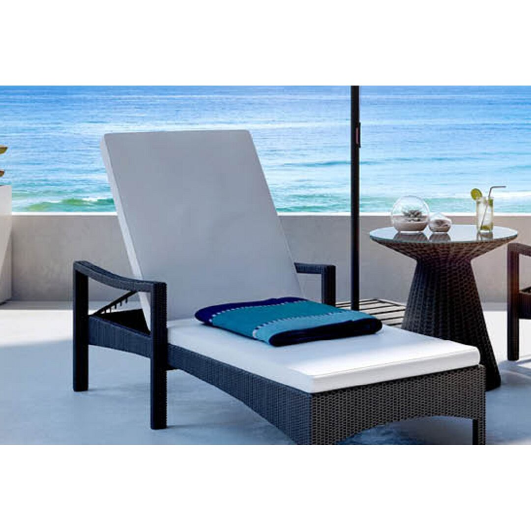 Modani Vico Deckchair With Cushion Wayfair Modani Outdoor Furniture