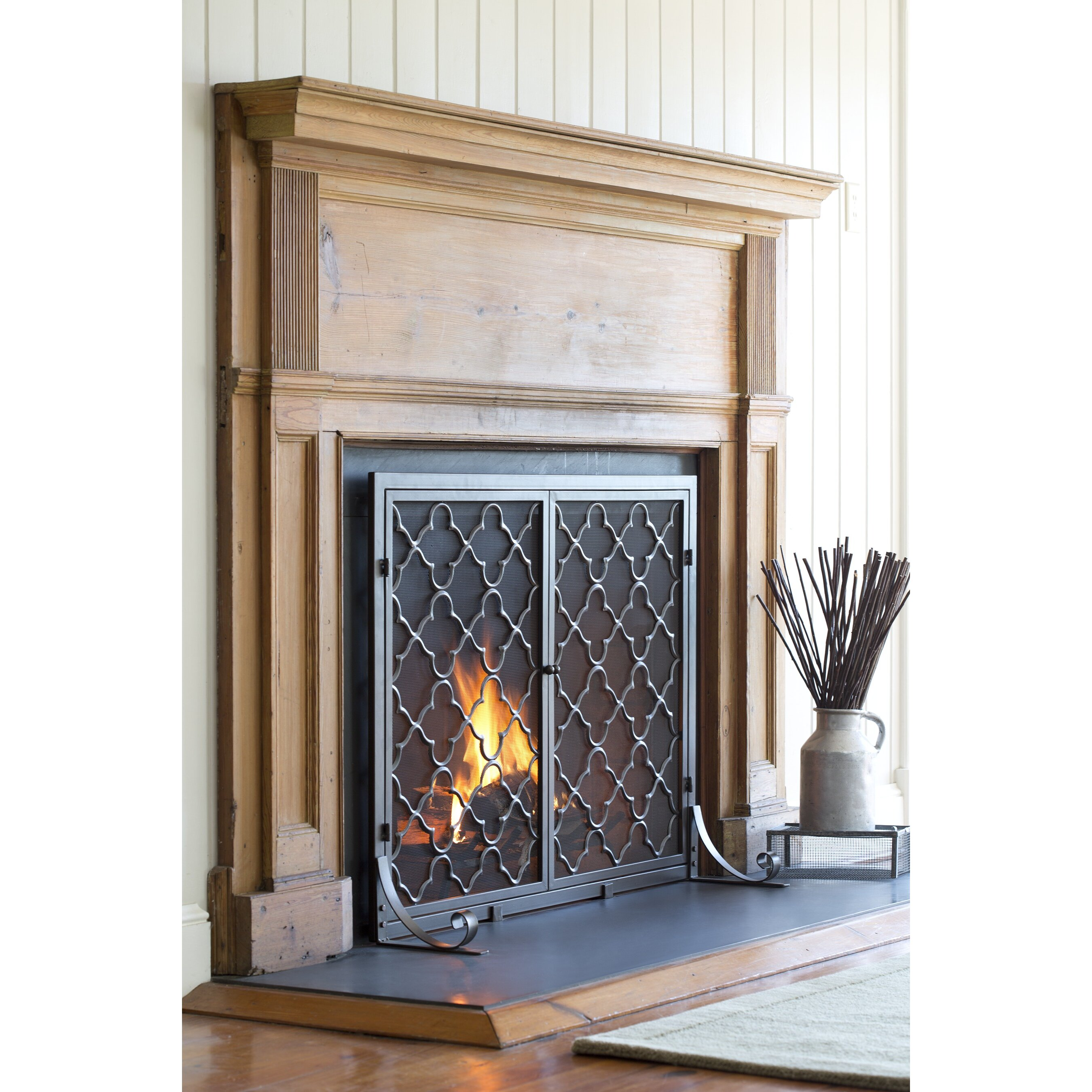 Plow Hearth Single Panel Geometric Fireplace Screen Reviews Wayfair