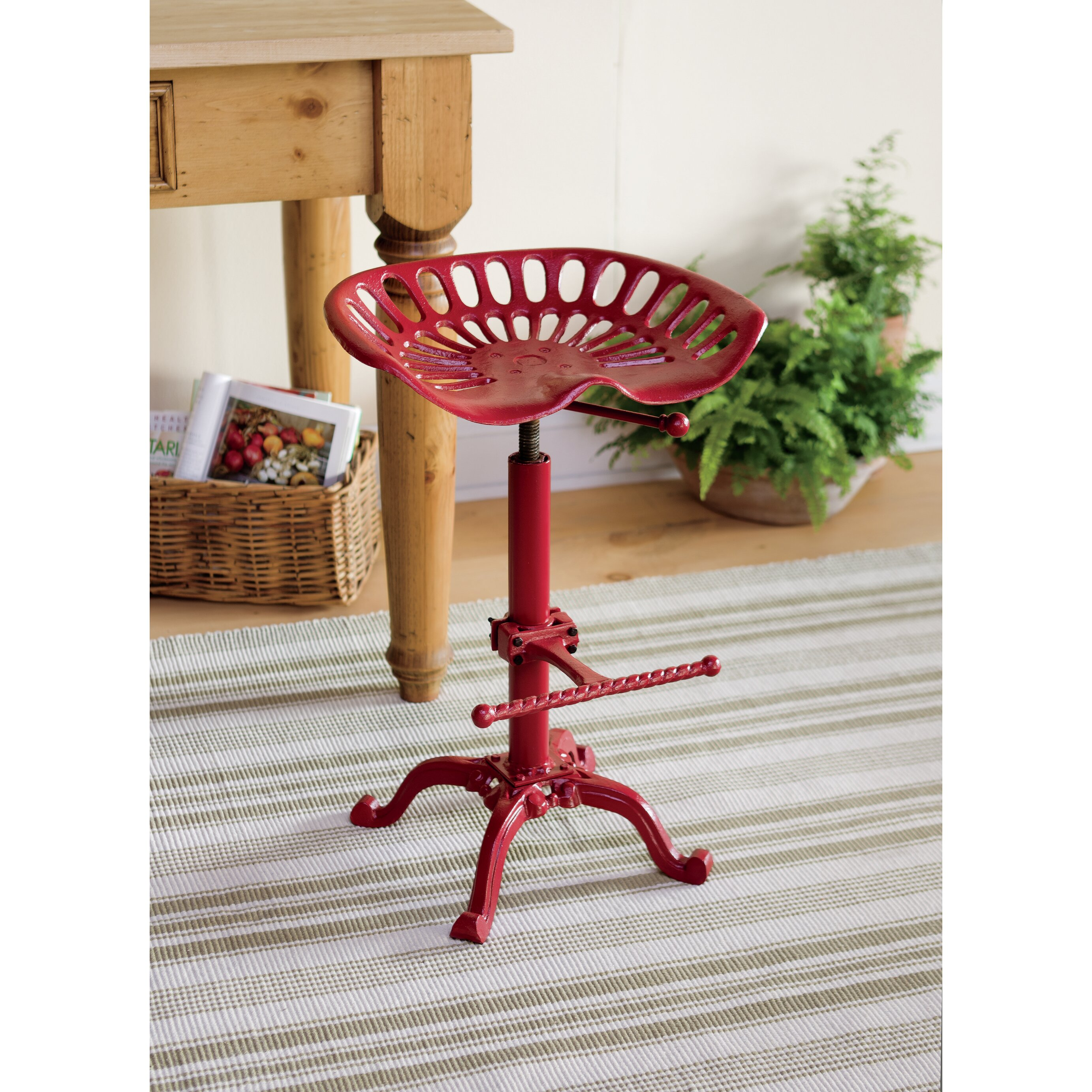 Plow Amp Hearth Tractor Seat Stool Amp Reviews Wayfair