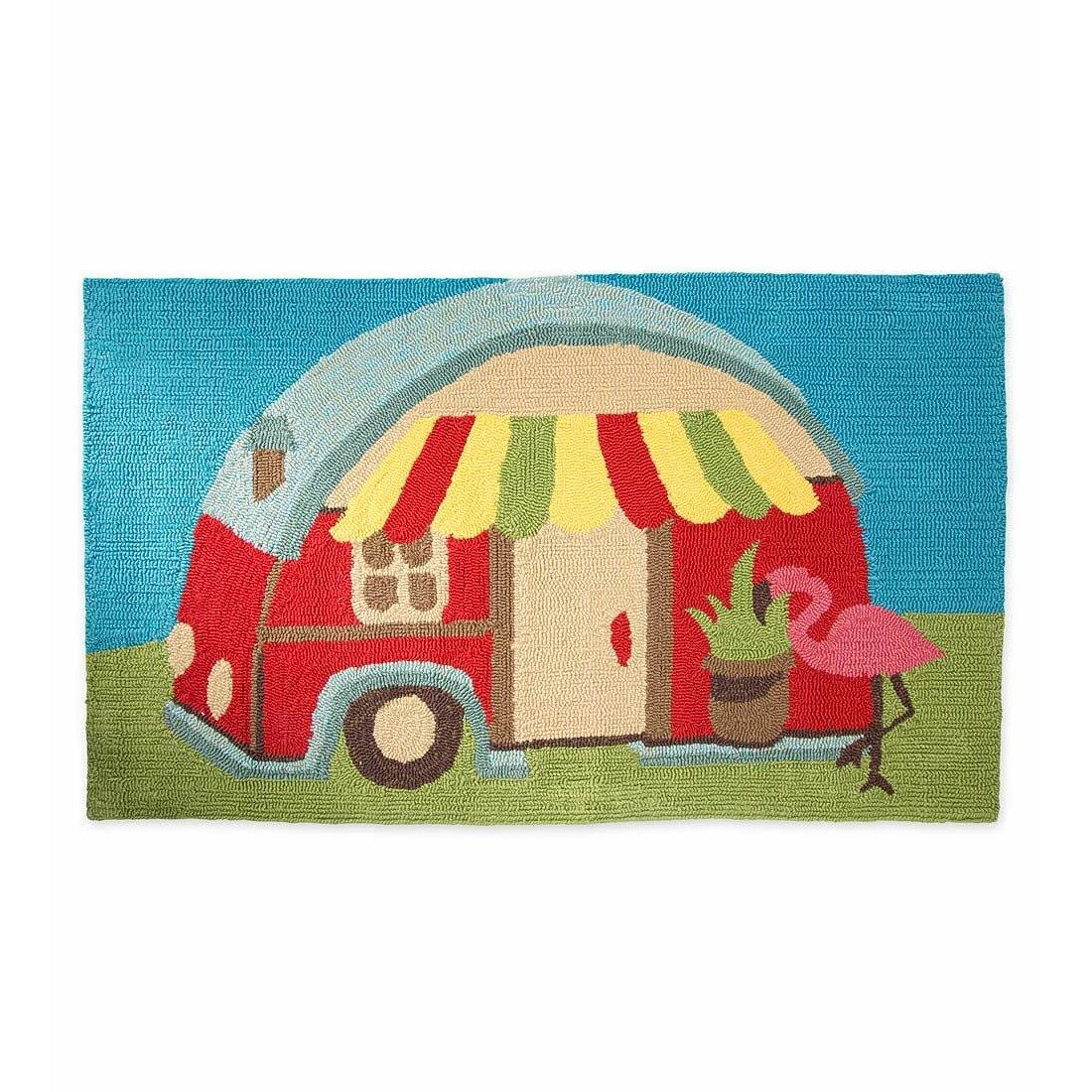 Plow Amp Hearth Happy Camper Mat Amp Reviews Wayfair