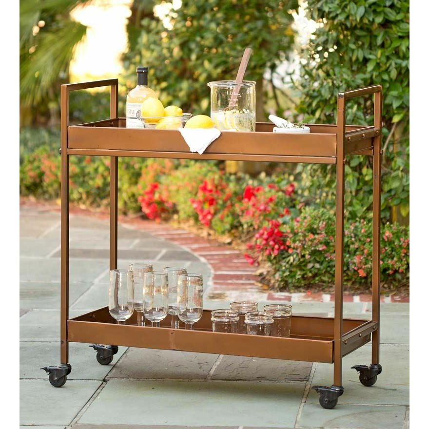 Plow And Hearth Furniture: Plow & Hearth Bar Serving Cart