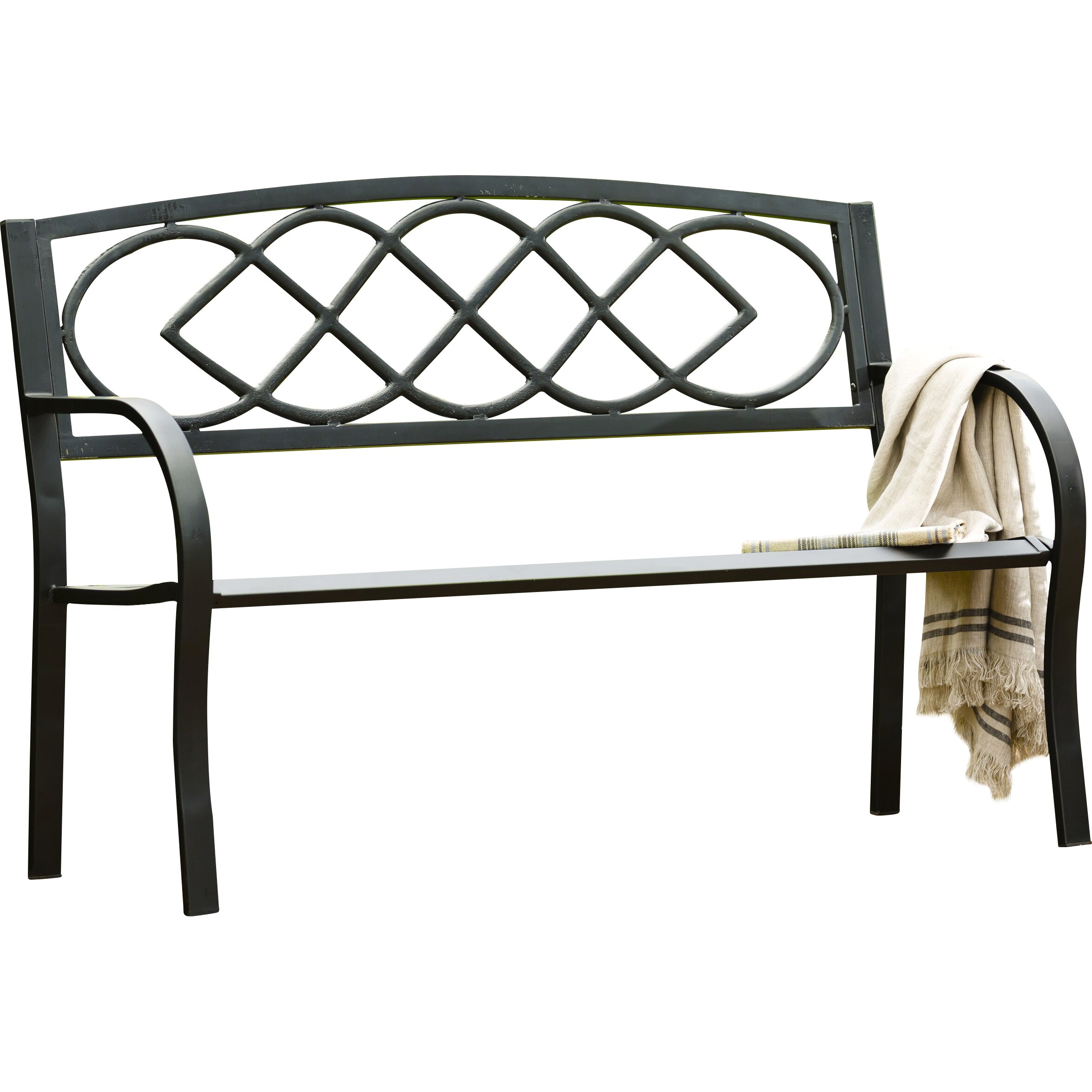 Plow And Hearth Furniture: Plow & Hearth Celtic Knot Iron Garden Bench & Reviews