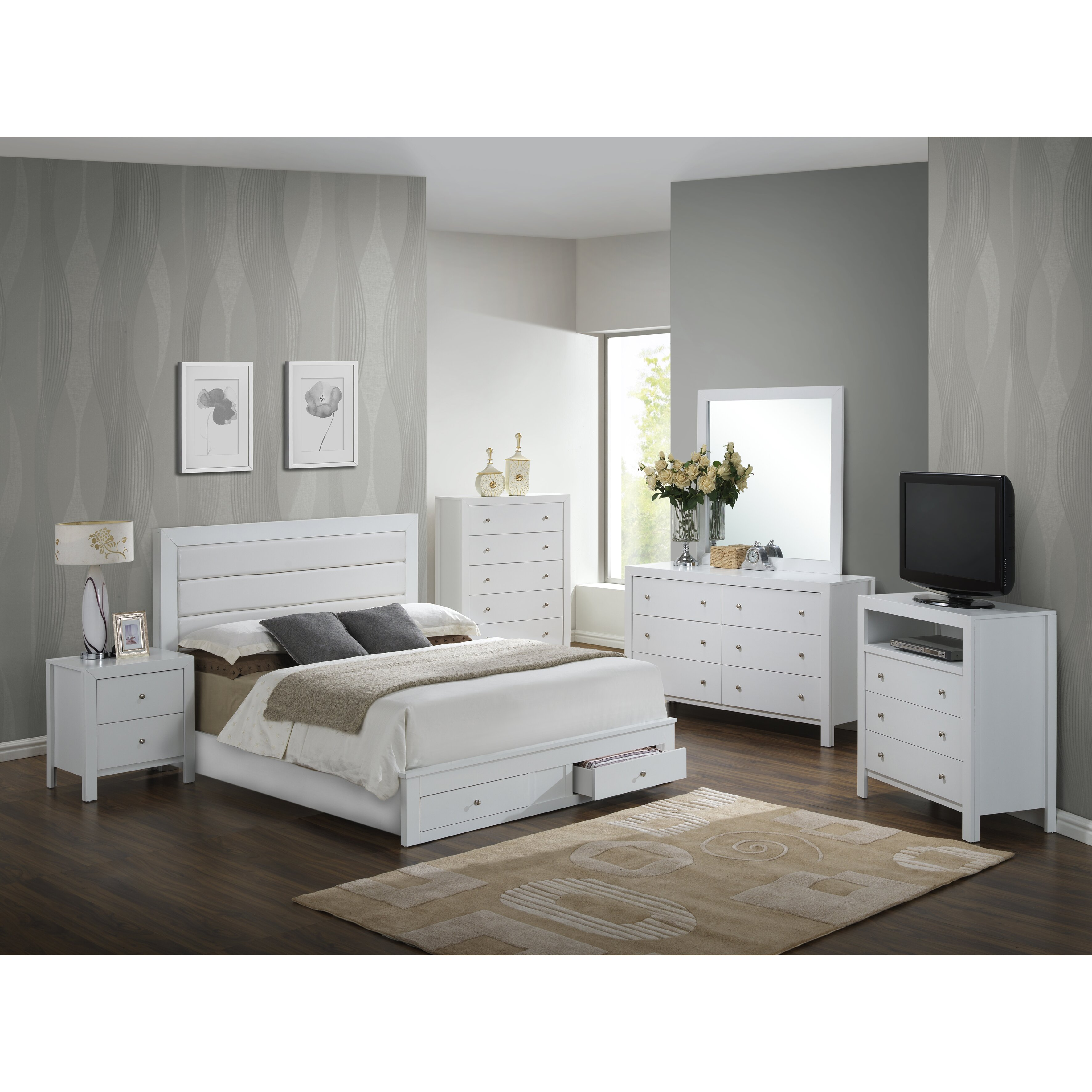 Glory Furniture Storage Panel Customizable Bedroom Set Reviews Wayfair