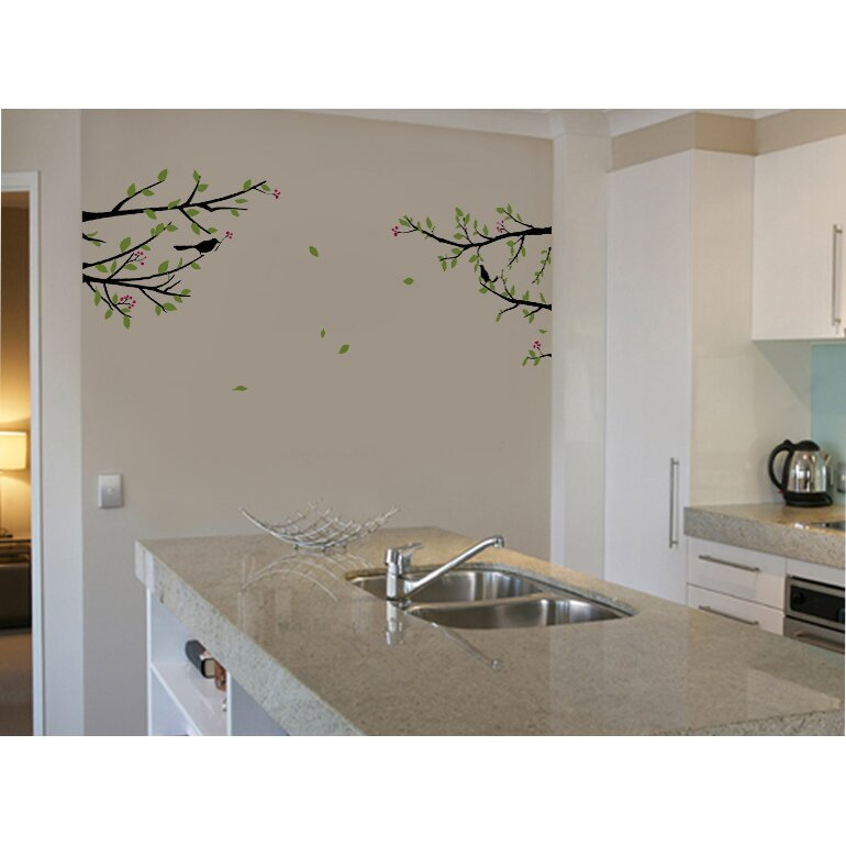 Pop Decors Elegant Tree Branch with Birds Decoration Wall