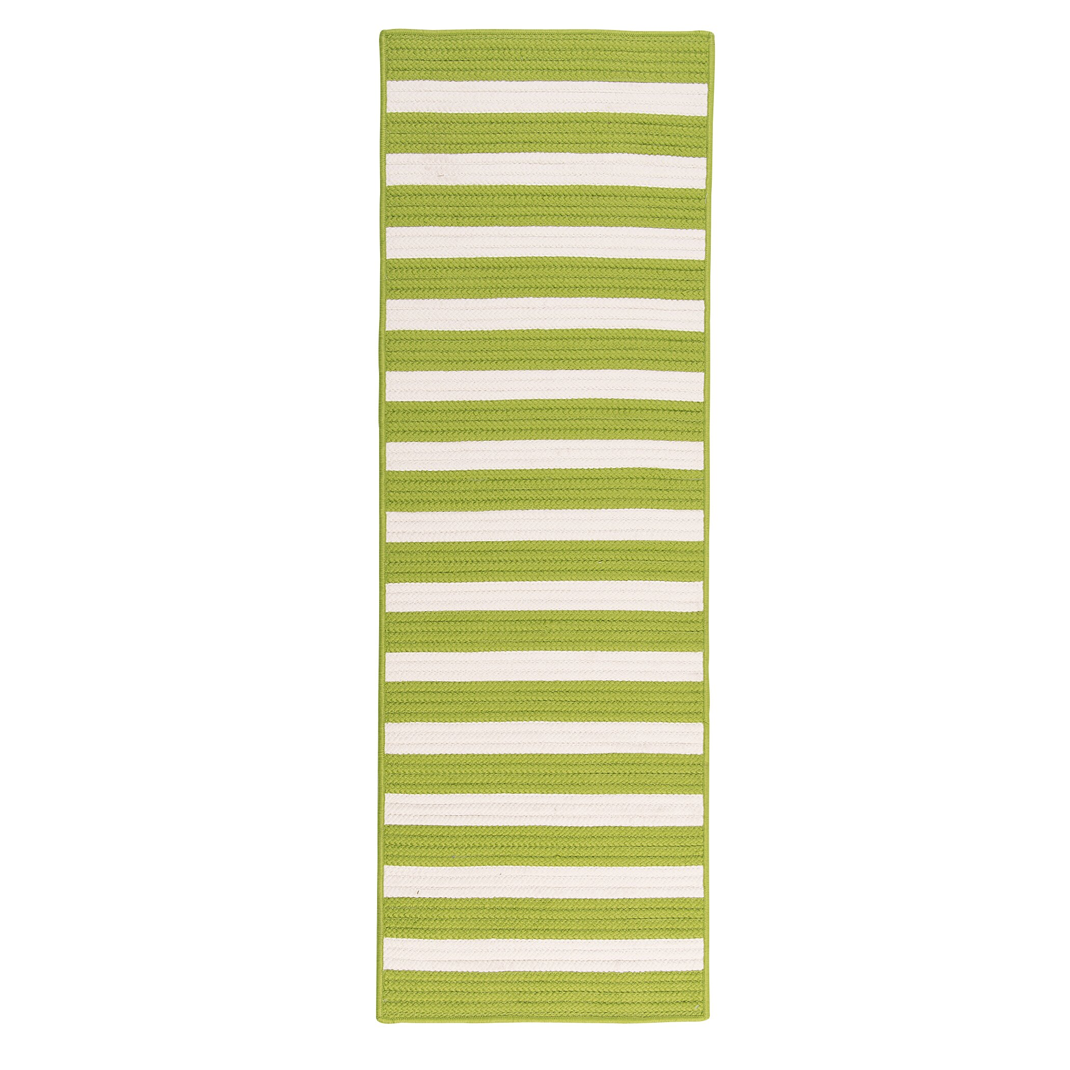 Colonial Mills Stripe It Bright Lime Indoor Outdoor Area