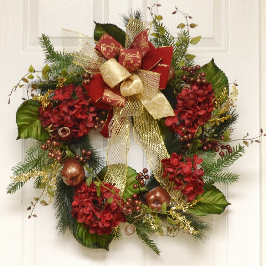 "Floral Home Decor 24"" Wreath & Reviews"