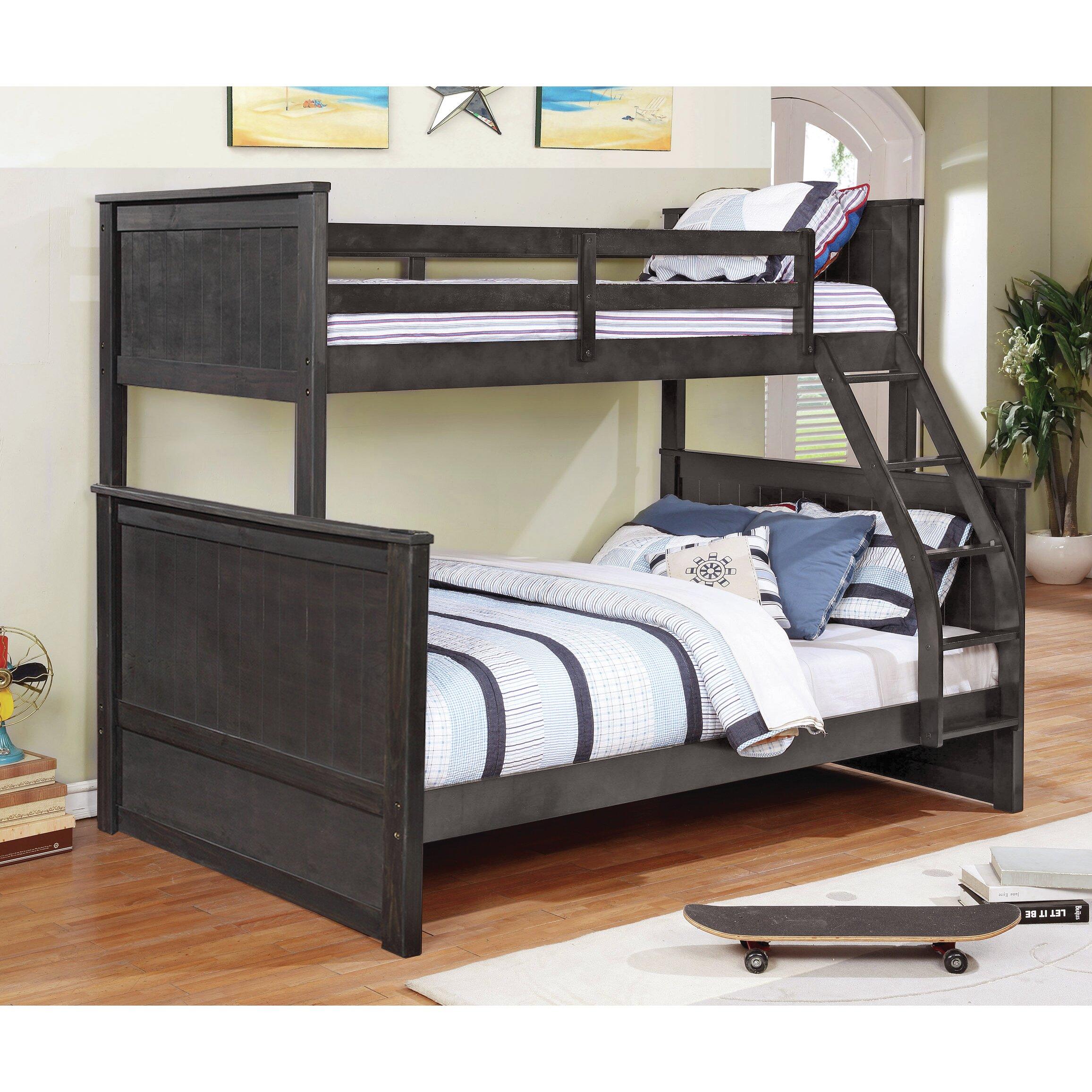 Magnolia Home Hudson Twin Over Full Loft Bunk Bed Reviews Wayfair