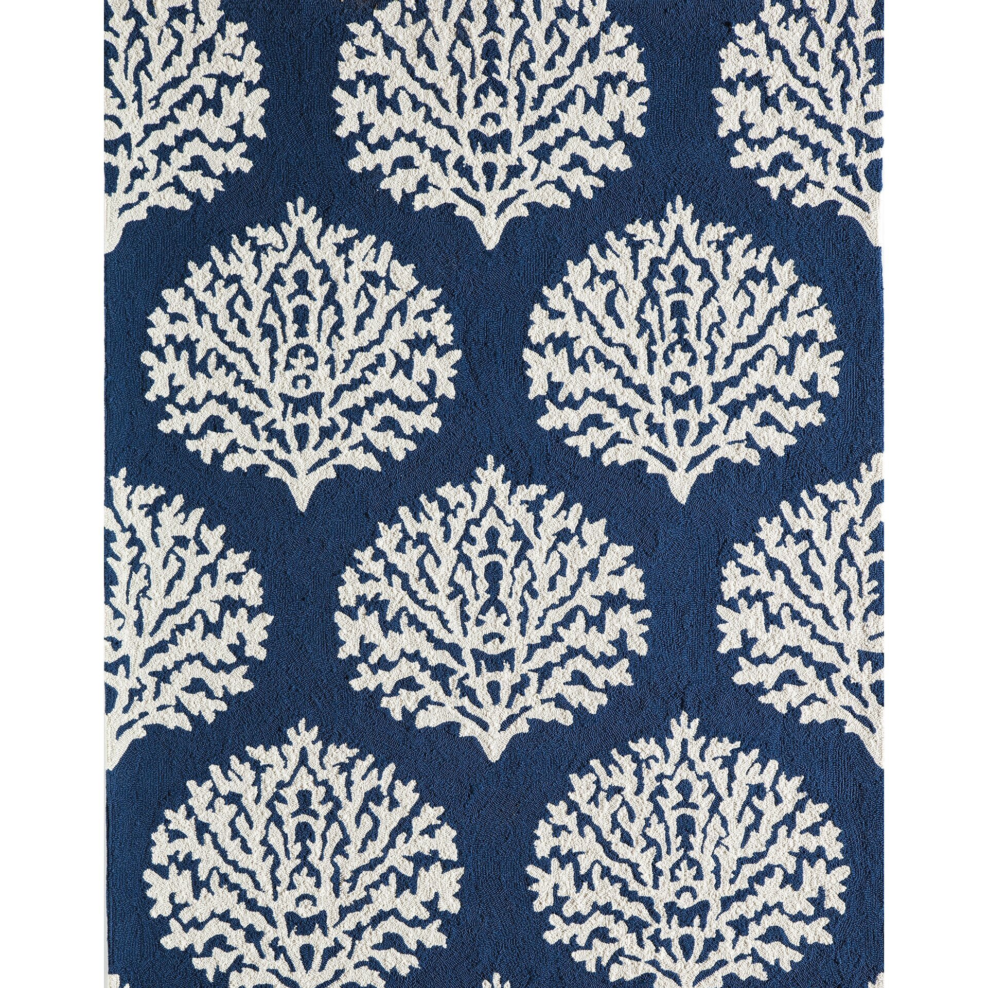Momeni Veranda Hand Hooked Navy Indoor Outdoor Area Rug